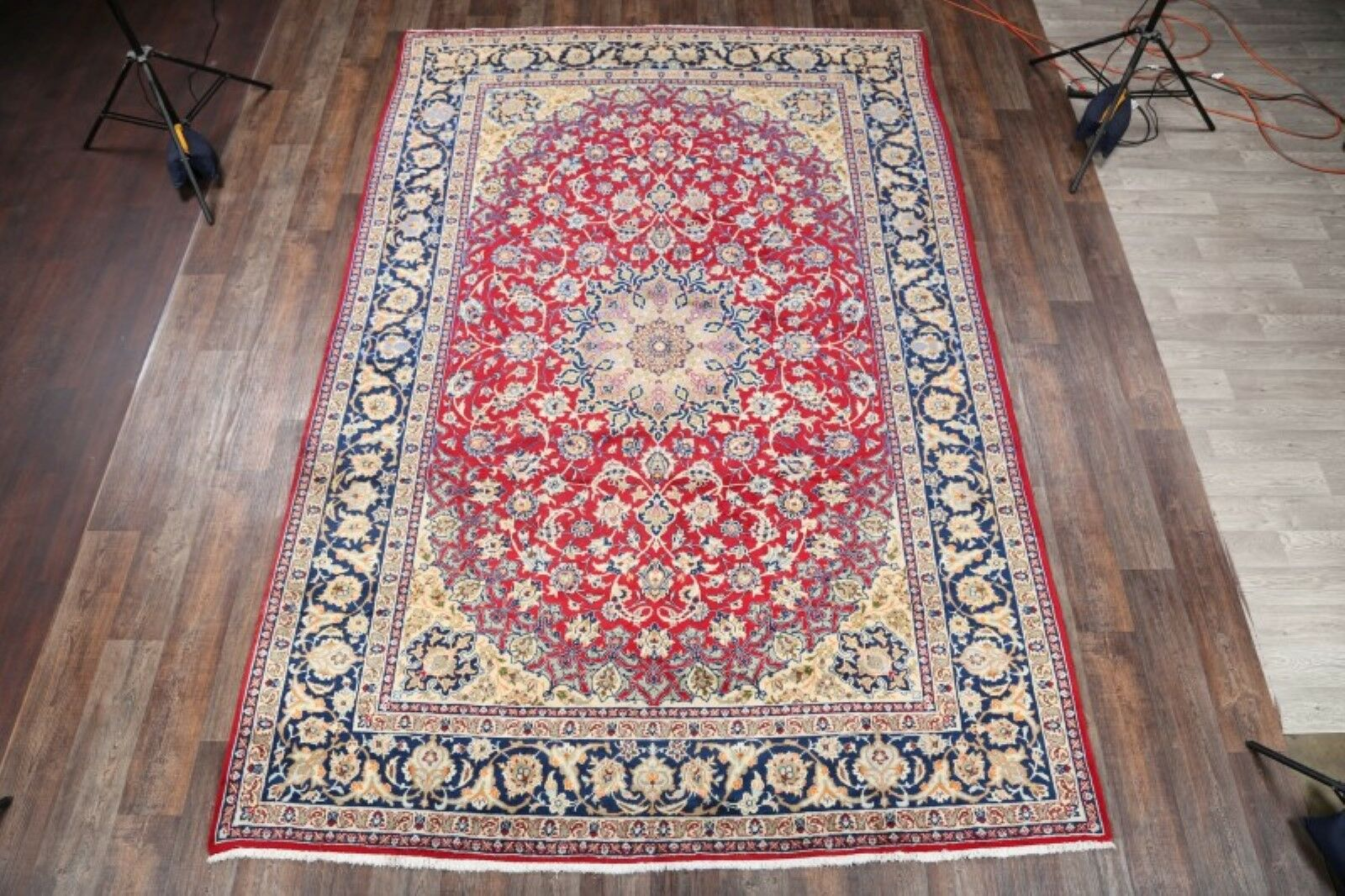 One-of-a-Kind Isfahan Persian Hand-Knotted 8'7