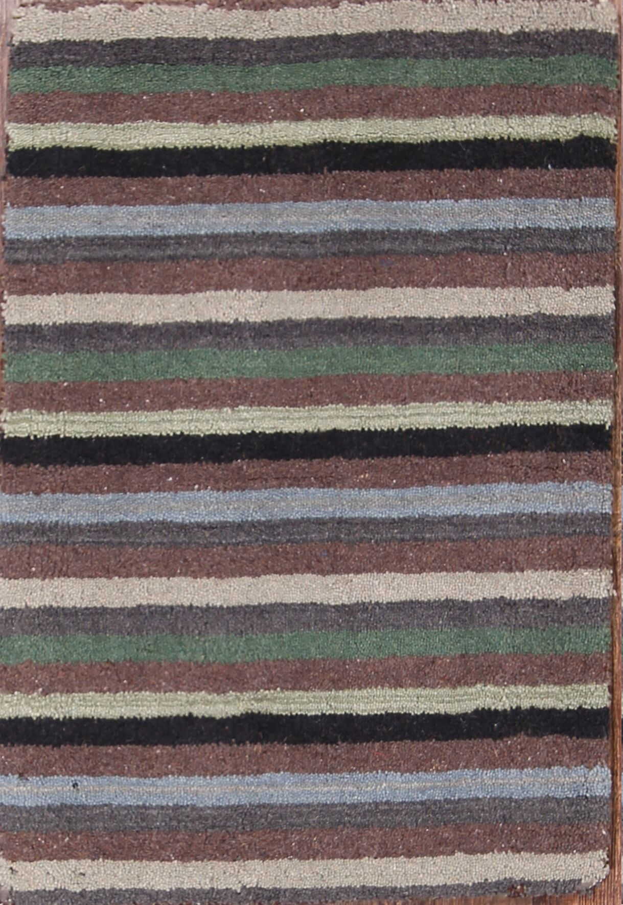 Aislinn Gabbeh Oriental Hand-Tufted Wool Red/Burgundy Area Rug