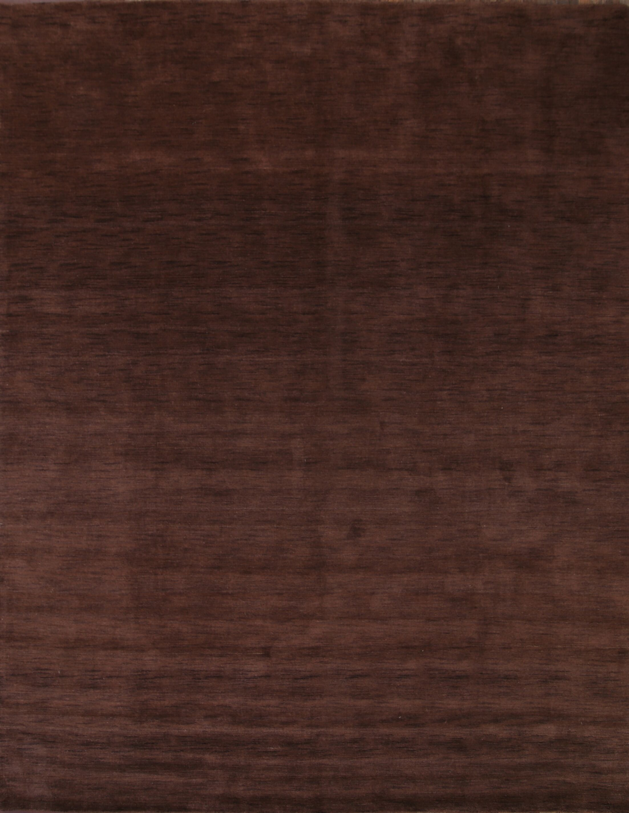 Bridgeview Gabbeh Oriental Hand-Knotted Wool Brown Area Rug