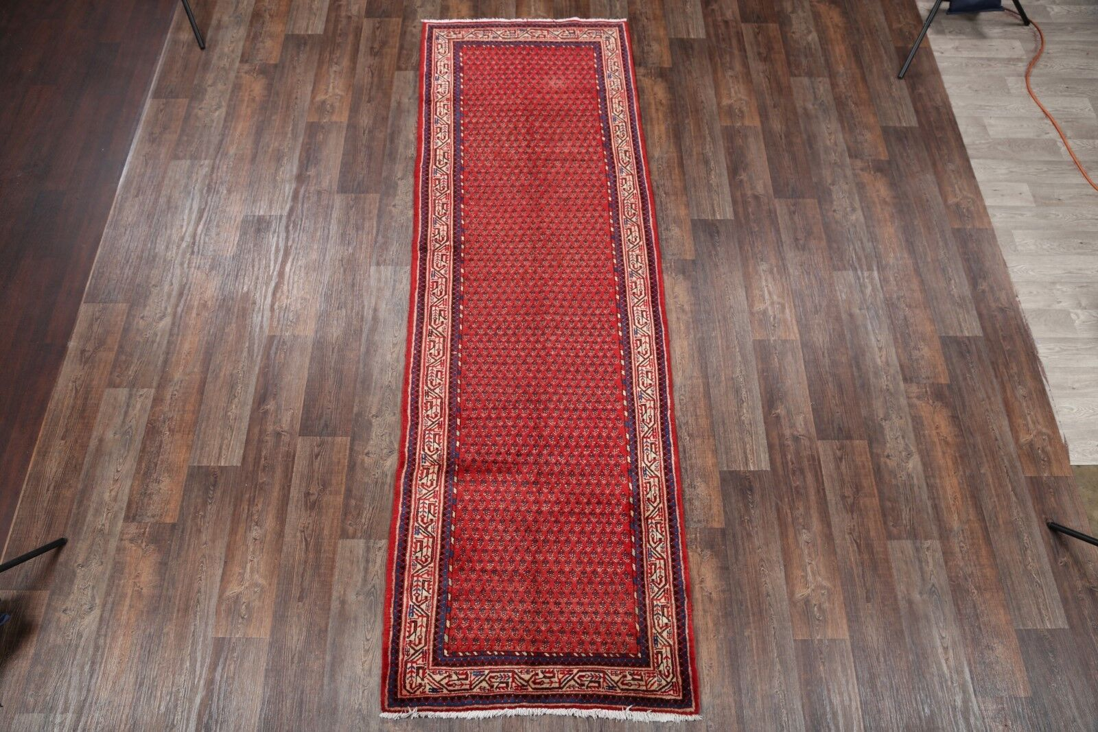 One-of-a-Kind Traditional Hamadan Botemir Persian Hand-Knotted 3'6