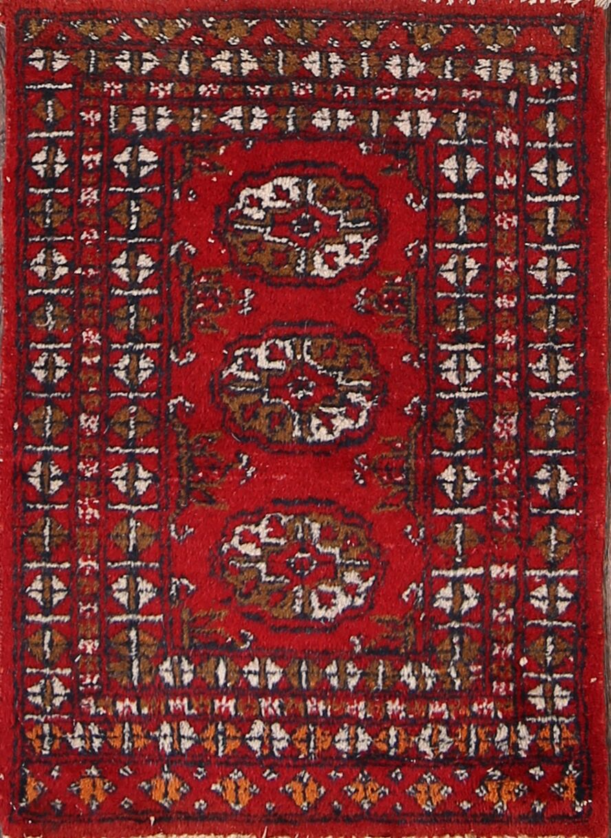 Cardiff Balouch Traditional Afghan Oriental Hand-Knotted Wool Red/Burgundy Area Rug
