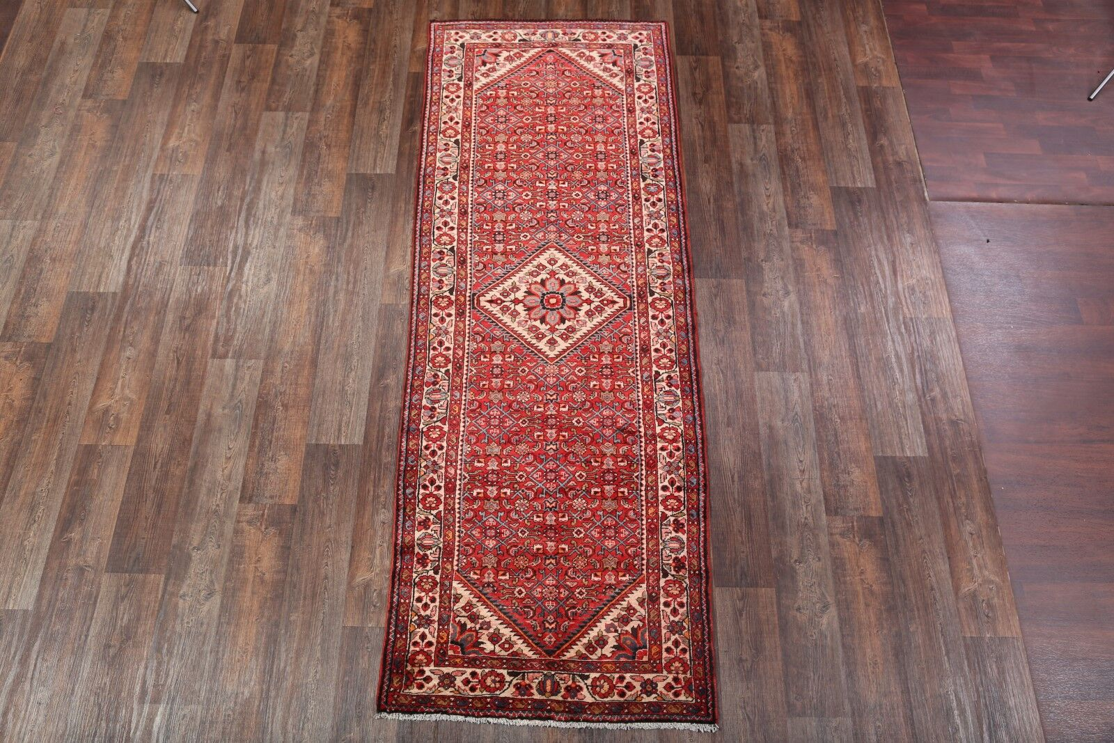 One-of-a-Kind Traditional Hamedan Persian Hand-Knotted 3'7