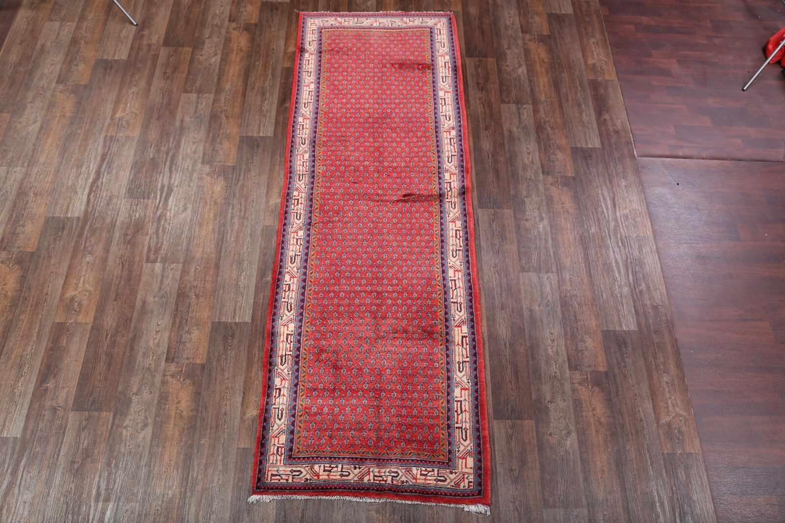 One-of-a-Kind Traditional Botemir Boteh Persian Hand-Knotted 3'6