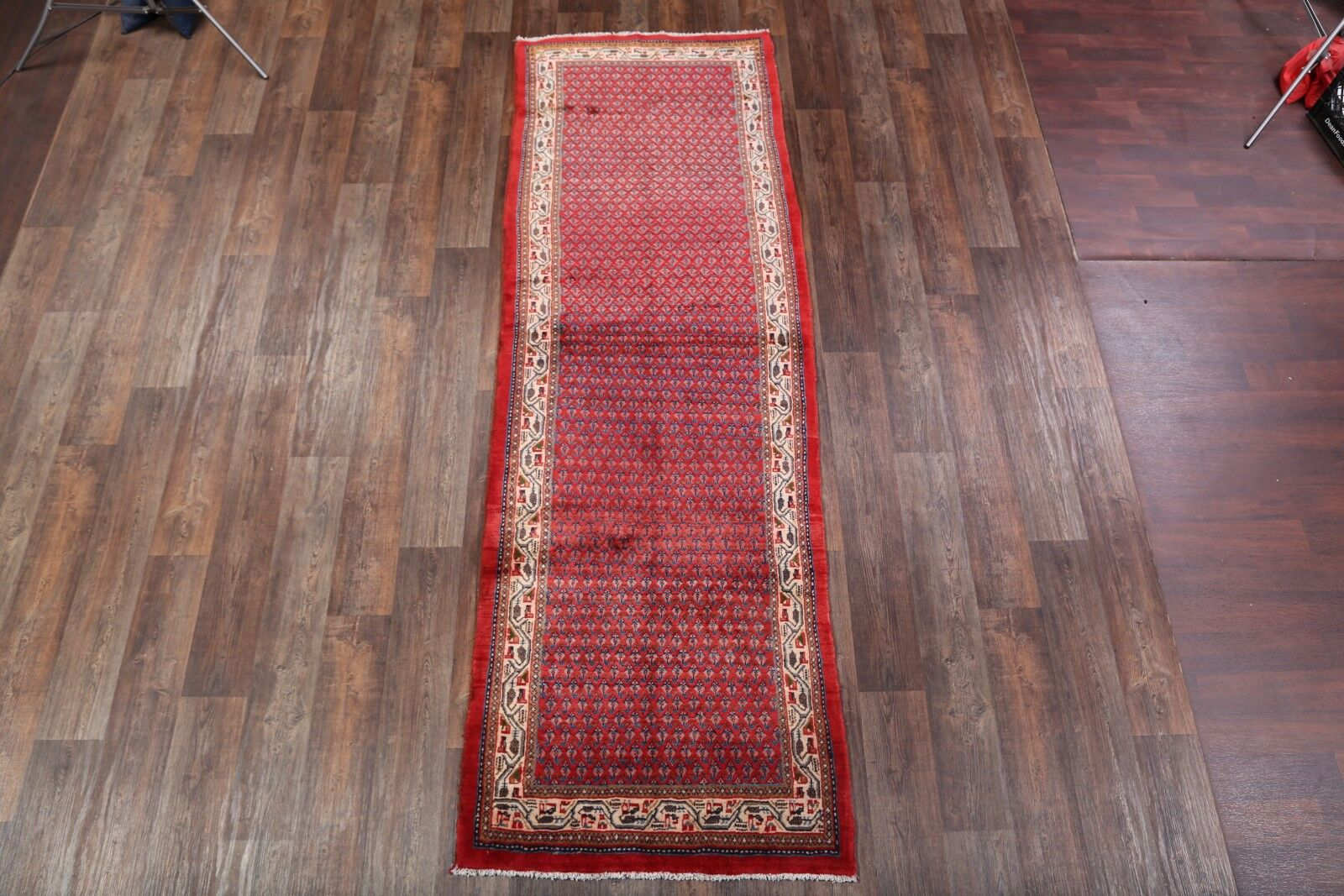 One-of-a-Kind Traditional Botemir Boteh Persian Hand-Knotted 3'7