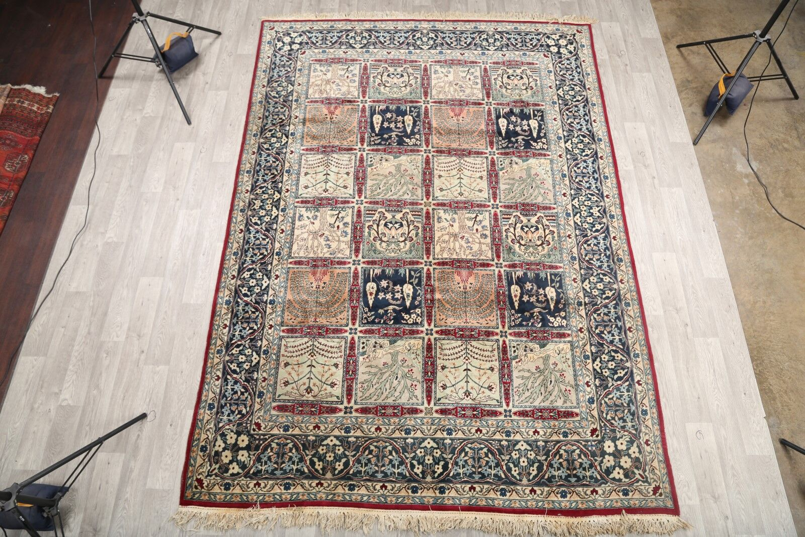 One-of-a-Kind Kashan Persian Vintage Hand-Knotted 7'11