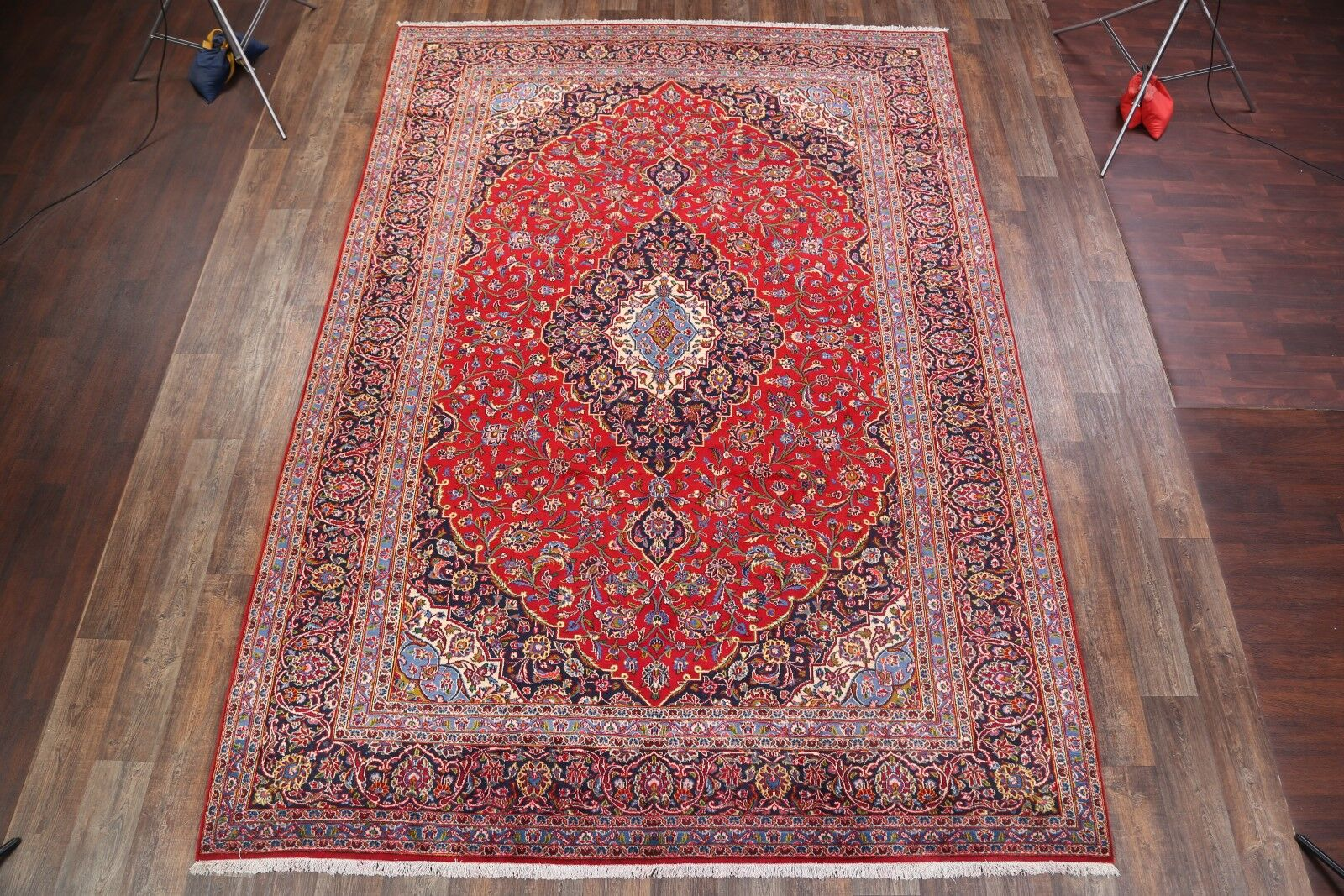 One-of-a-Kind Kashan Persian Hand-Knotted 9'3