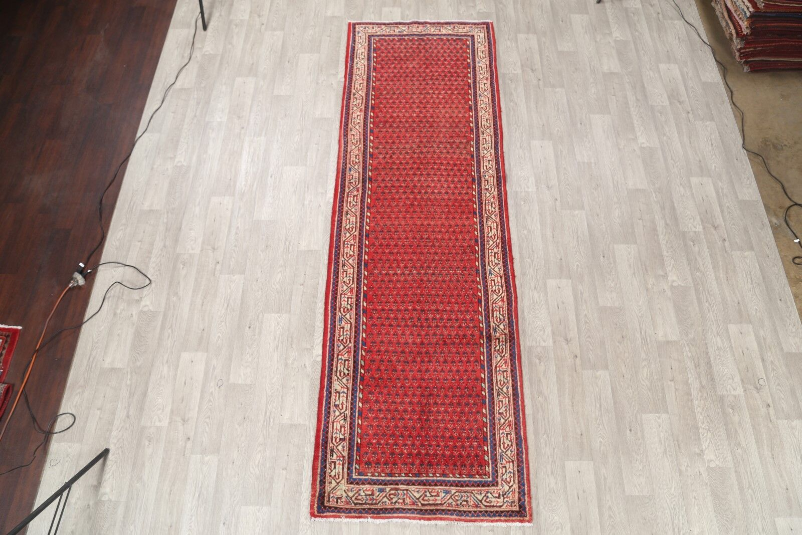 One-of-a-Kind Vintage Botemir Persian Classical Traditional Hand-Knotted 3'6