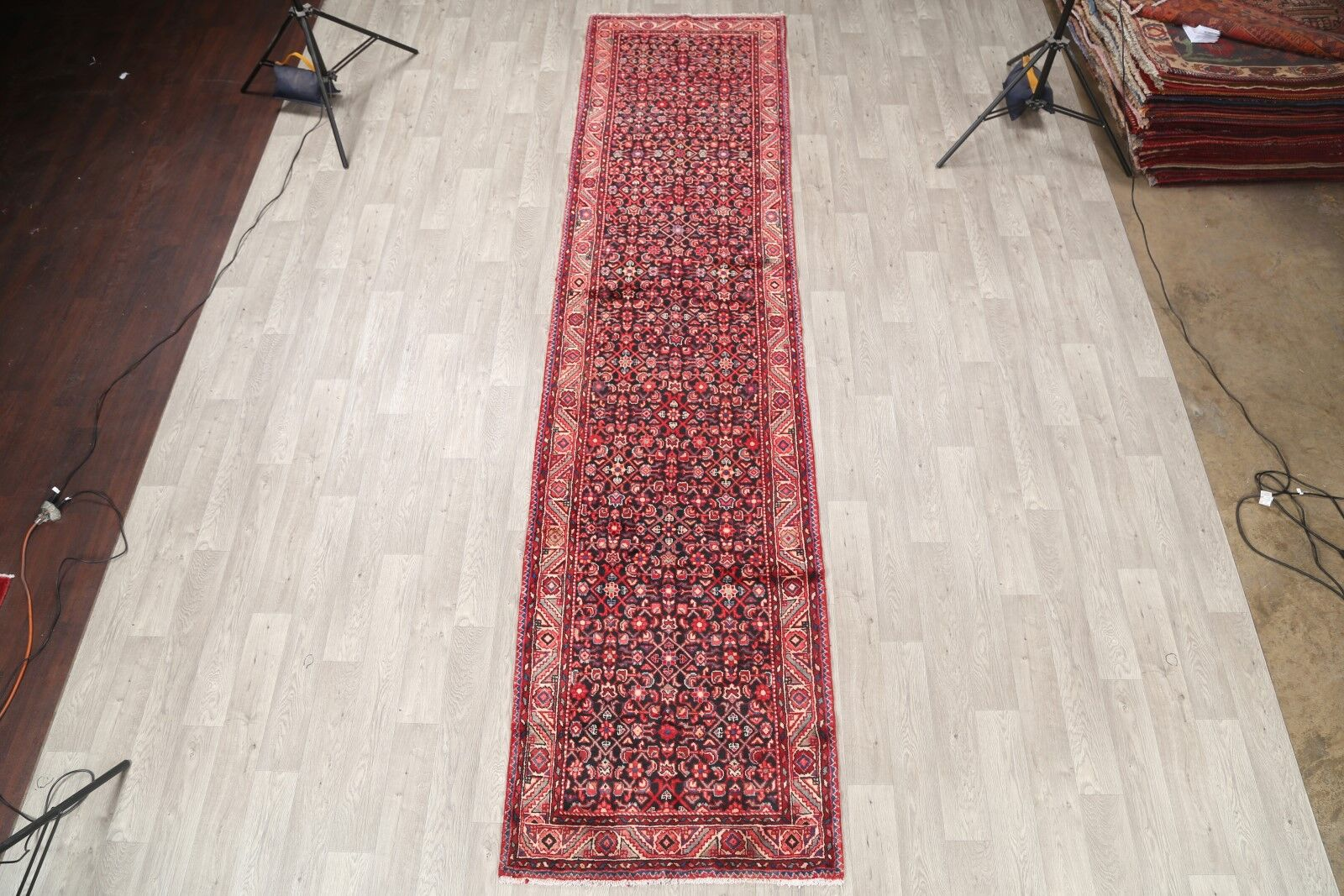 One-of-a-Kind Traditional Herati Hamadan Persian Hand-Knotted 3'4