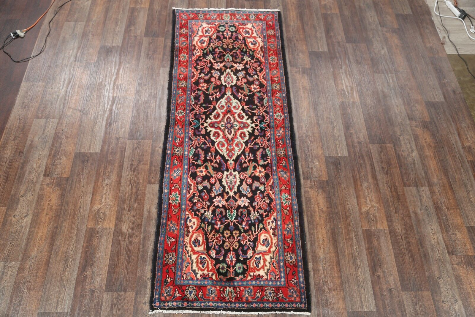 One-of-a-Kind Hamadan Traditional Persian Hand-Knotted 3'6