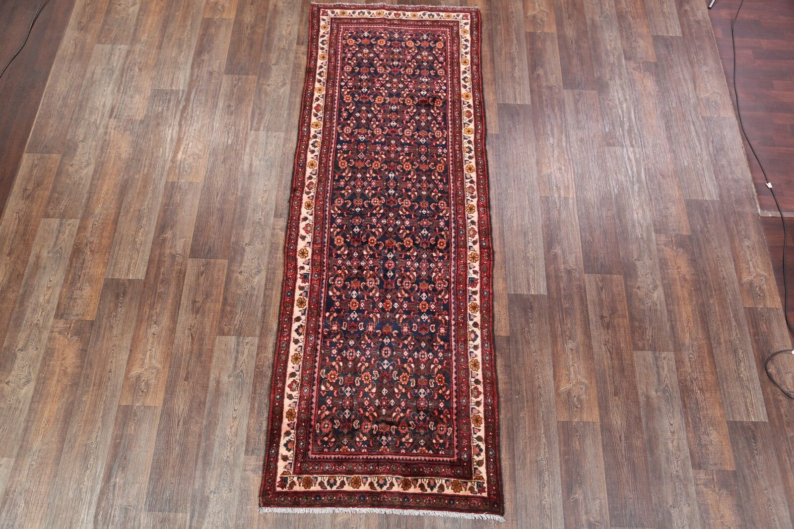 One-of-a-Kind Zanjan Traditional Persian Hand-Knotted 3'6