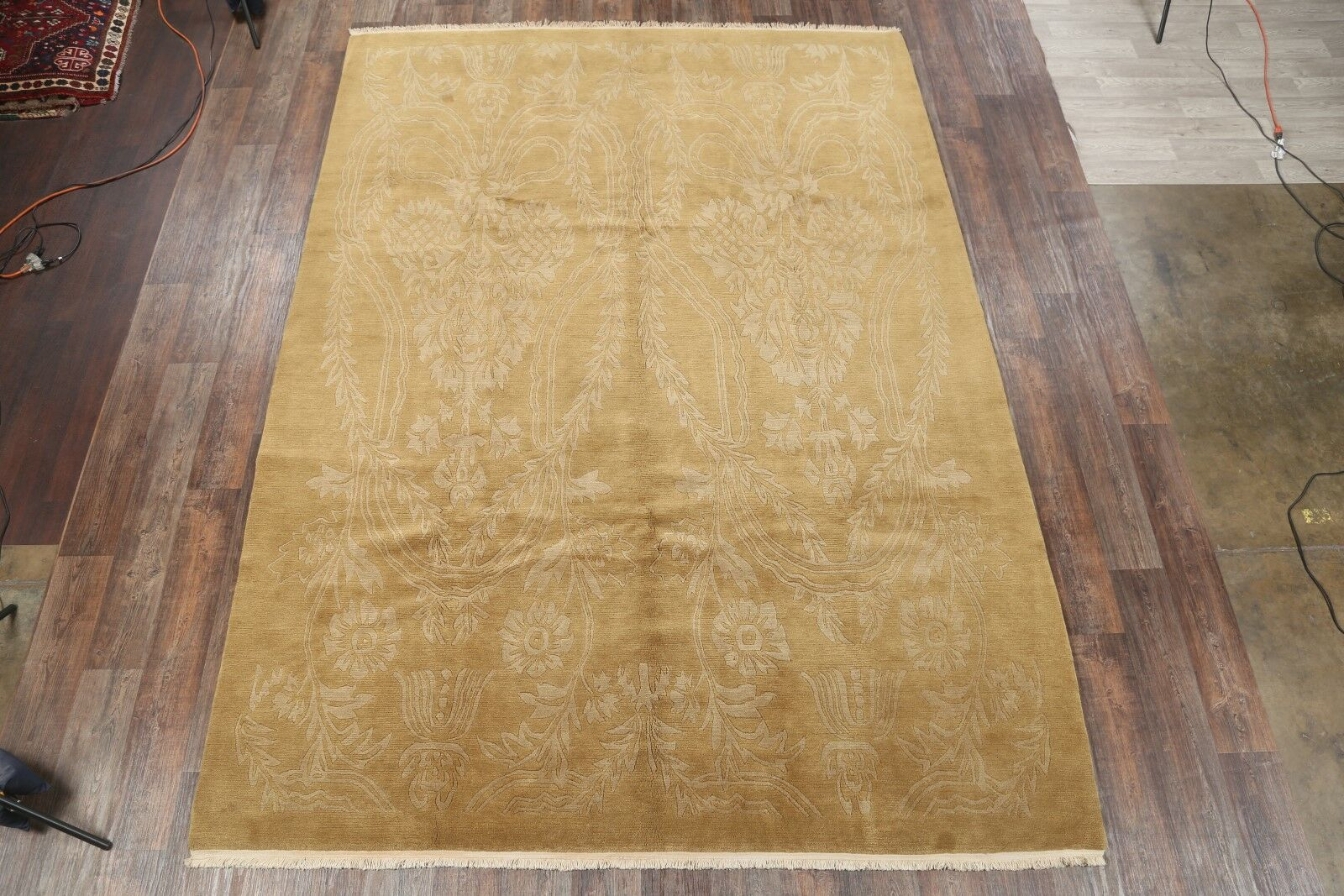 One-of-a-Kind Mysliwiec Modern Nepal Oriental Hand-Knotted Wool Brown Area Rug