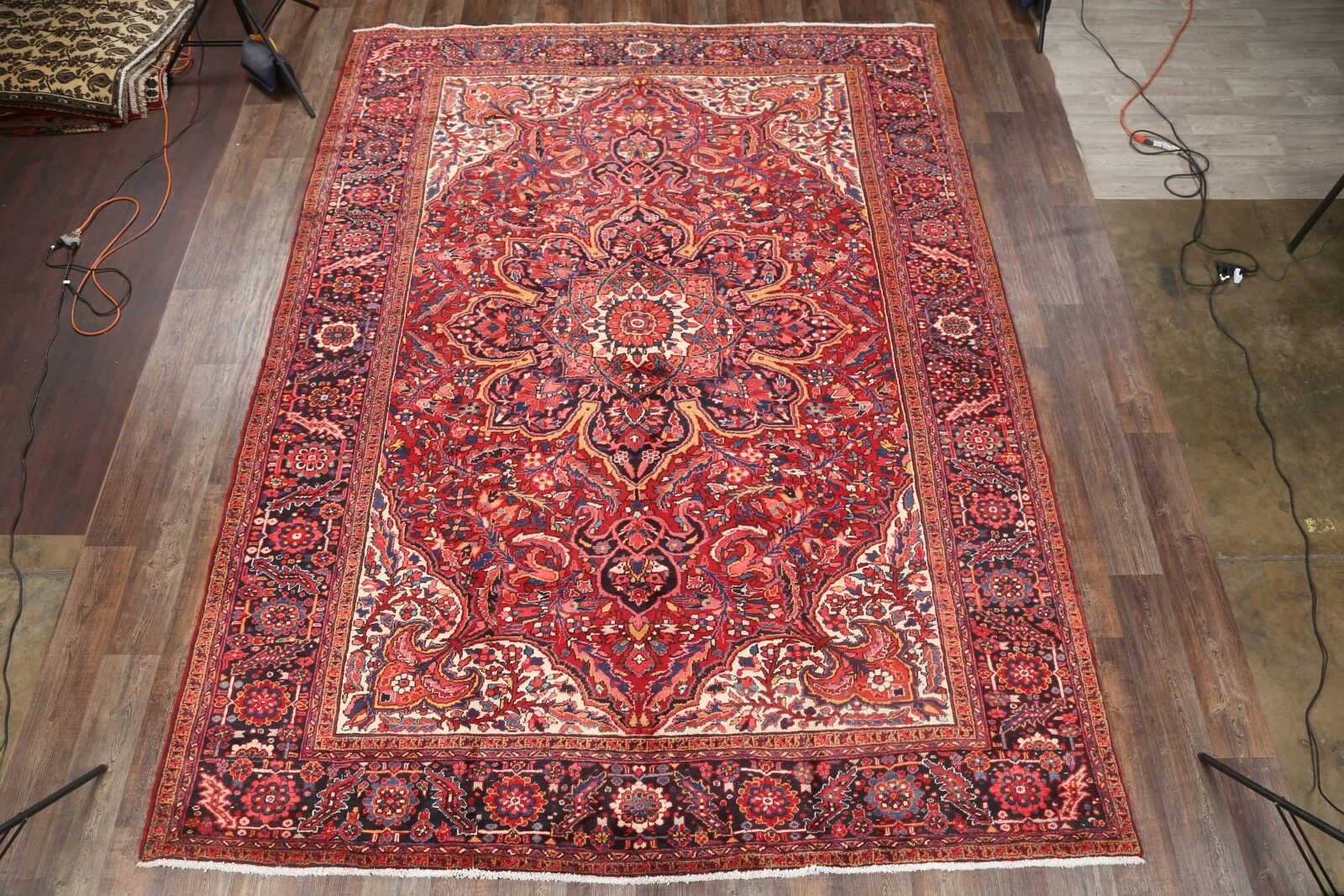 One-of-a-Kind Classical Heriz Persian Traditional Vintage Hand-Knotted 9'10