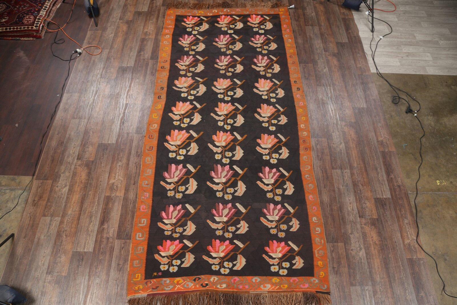 One-of-a-Kind Kilim Shiraz Persian Hand-Knotted 6'2