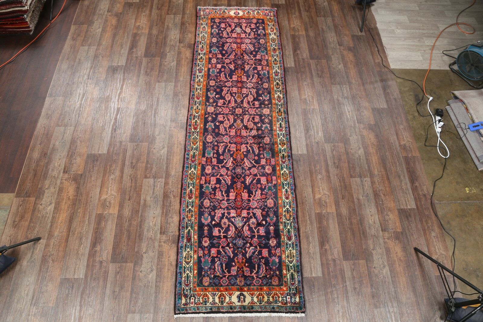 One-of-a-Kind Hamadan Persian x Hand-Knotted 3'6