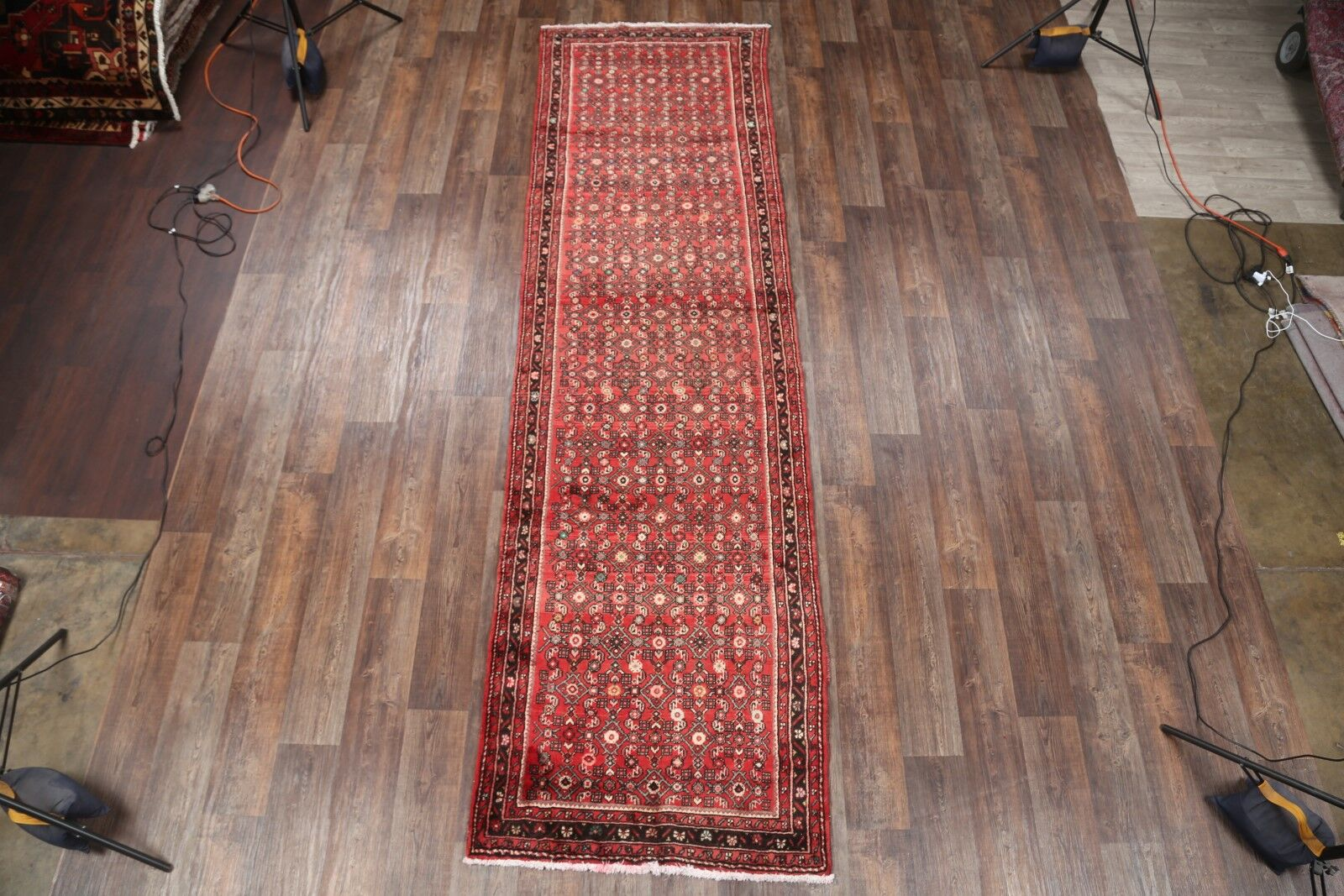 One-of-a-Kind Hamadan Persian Hand-Knotted 3'9