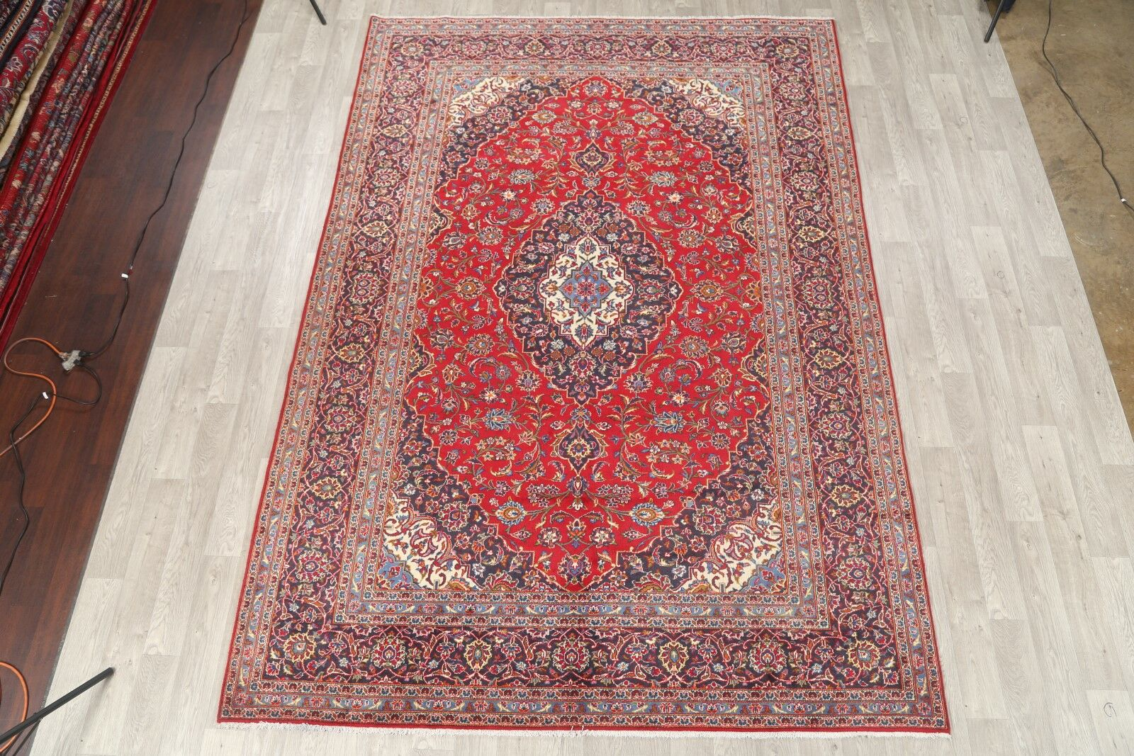 One-of-a-Kind Estepp Traditional Kashan Persian Hand-Knotted 8'1