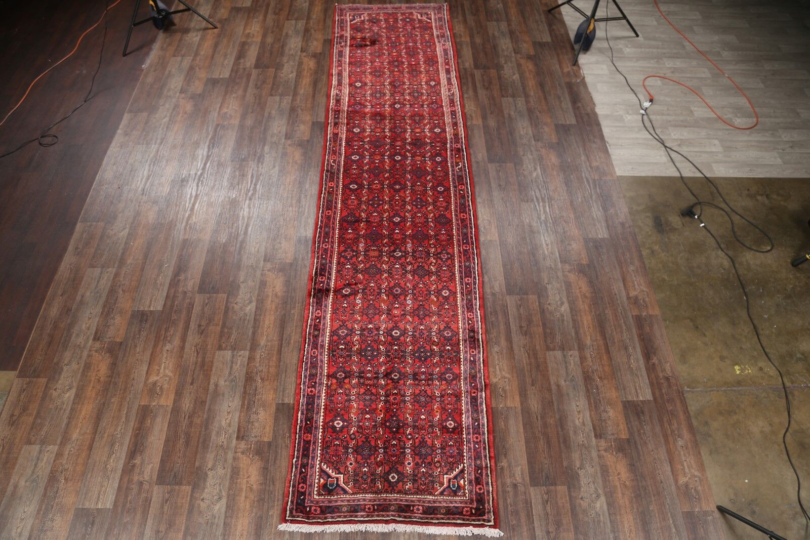 One-of-a-Kind Geometric Genuine Persian Palace Hand-Knotted 3'9
