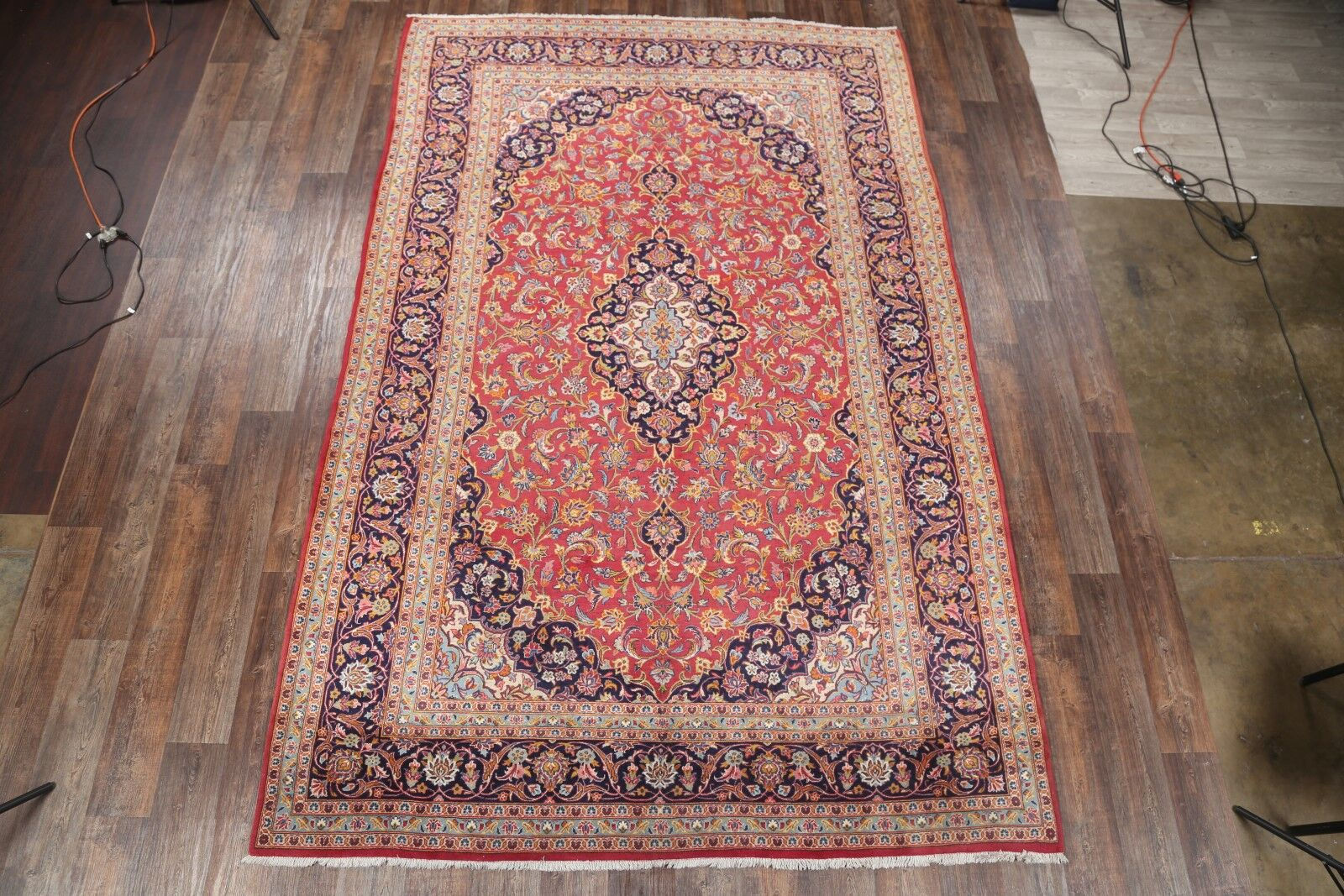 One-of-a-Kind Classical Kashan Persian Traditional Hand-Knotted 8'1