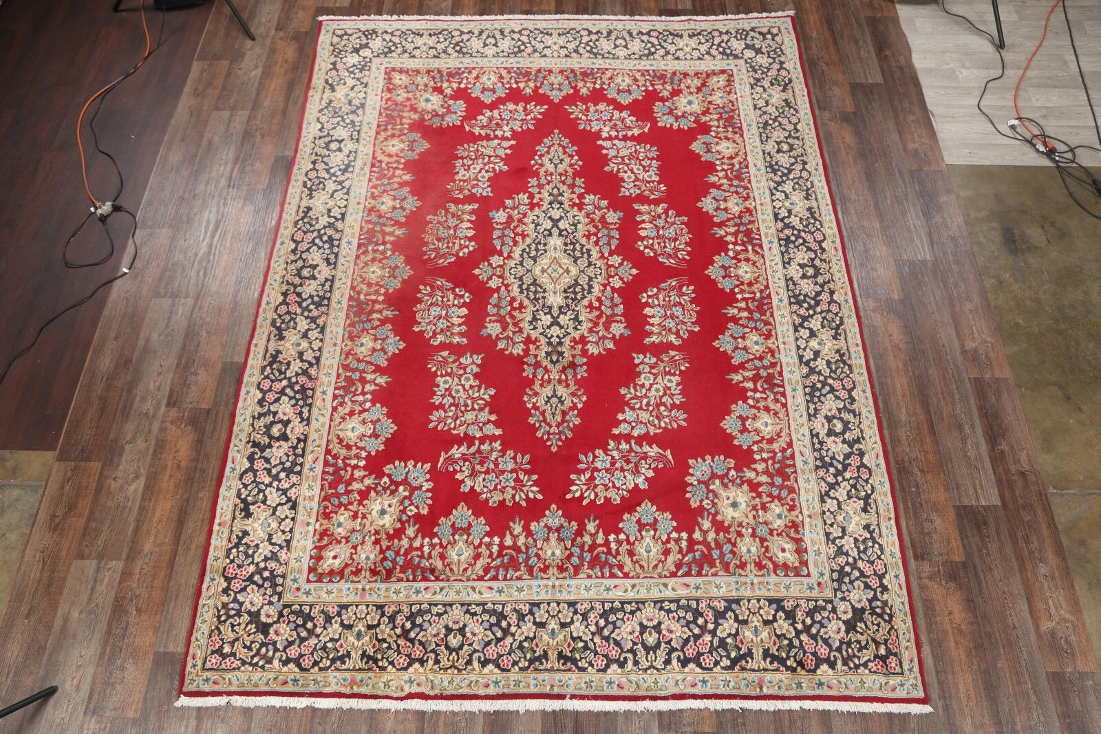 One-of-a-Kind Kerman Persian Genuine Hand-Knotted 8'9