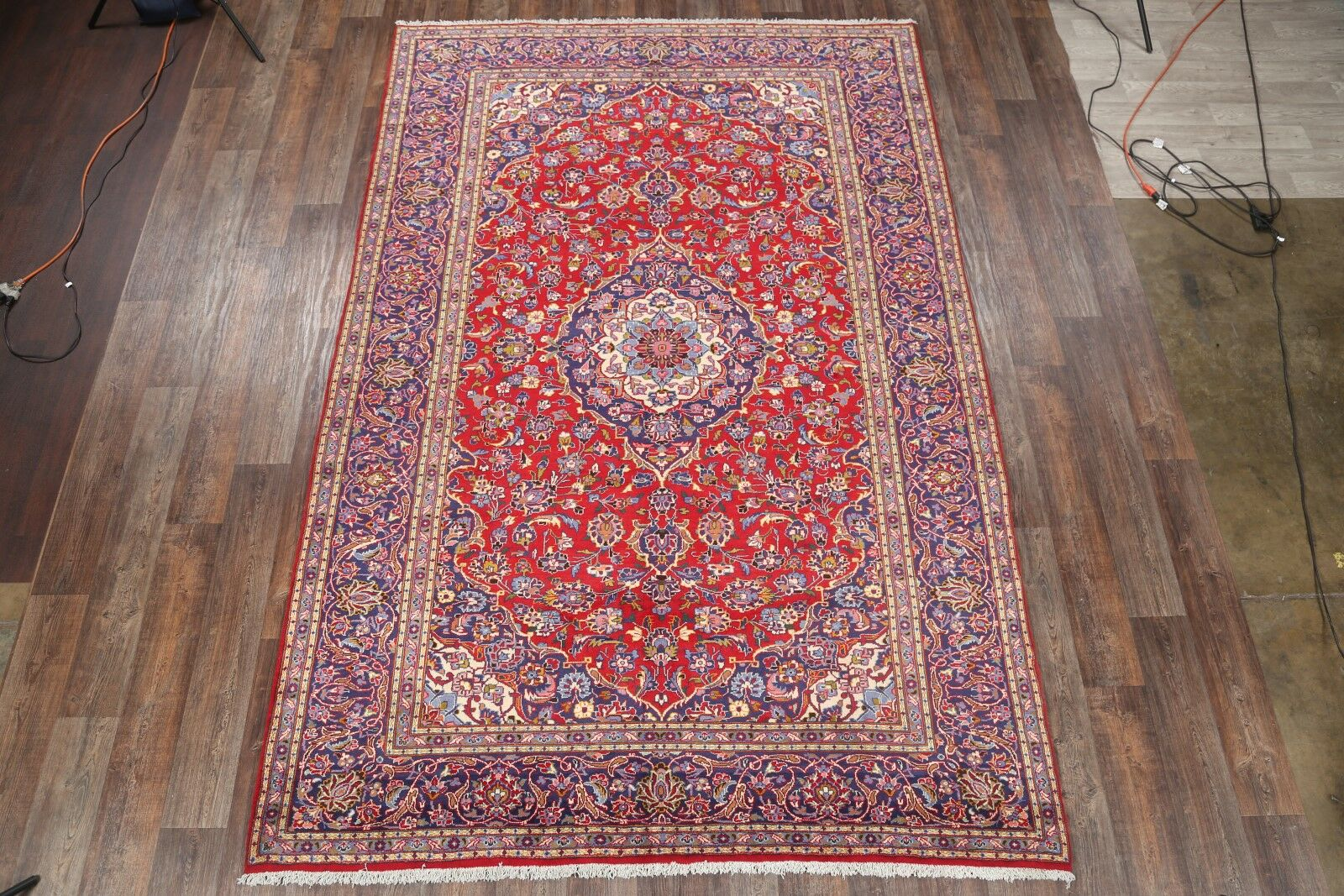 One-of-a-Kind Kashan Vintage Persian Traditional Hand-Knotted 7'10