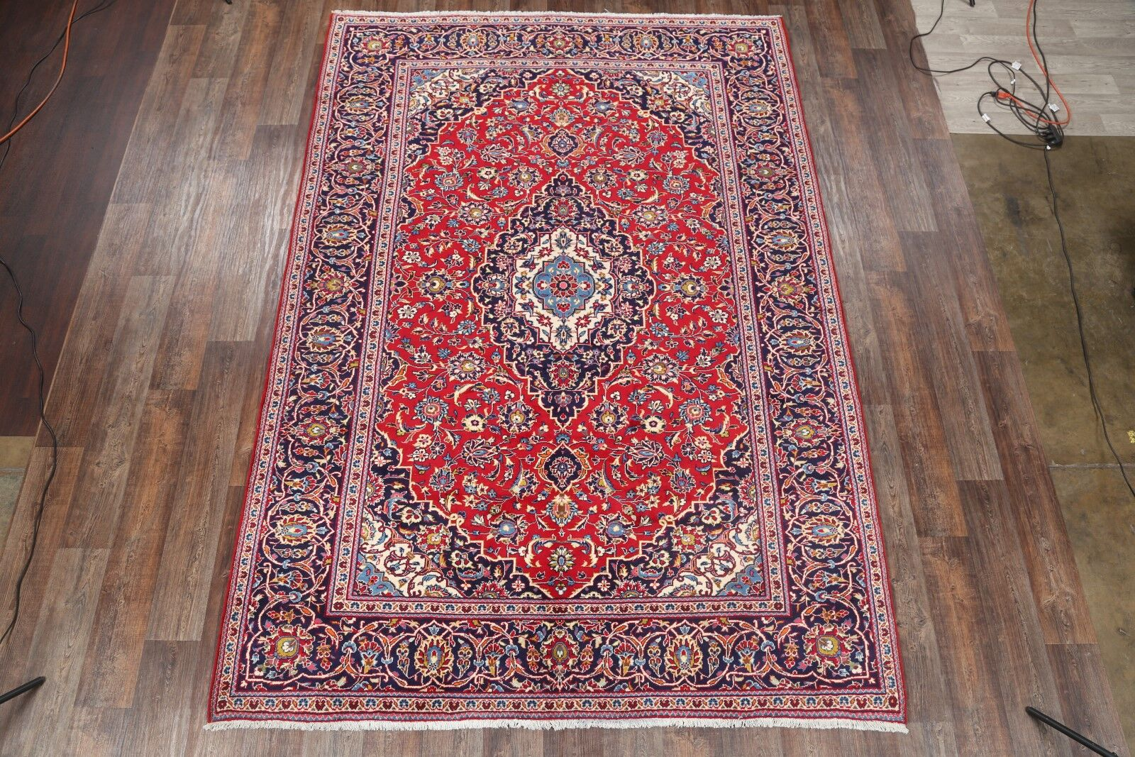 One-of-a-Kind Classical Kashan Persian Hand-Knotted 7'10