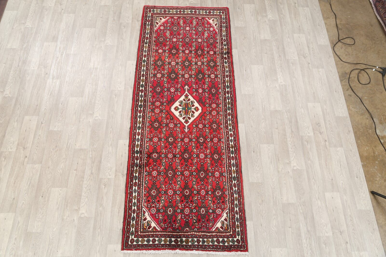 One-of-a-Kind Montello Traditional Hamadan Persian Hand-Knotted 3'8
