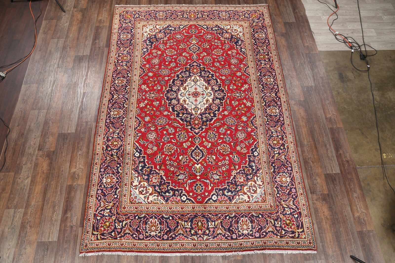 One-of-a-Kind Kashan Persian Hand-Knotted 7'8