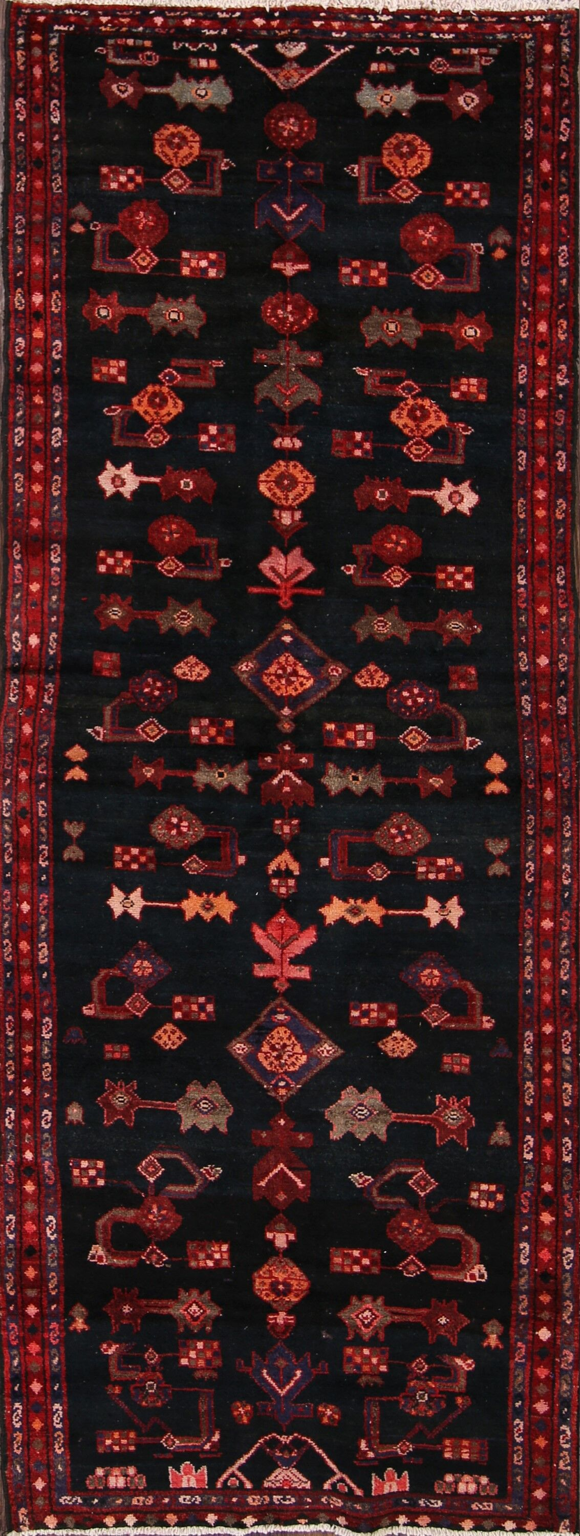 One-of-a-Kind Malayer Vintage Genuine Persian Hand-Knotted 3'6