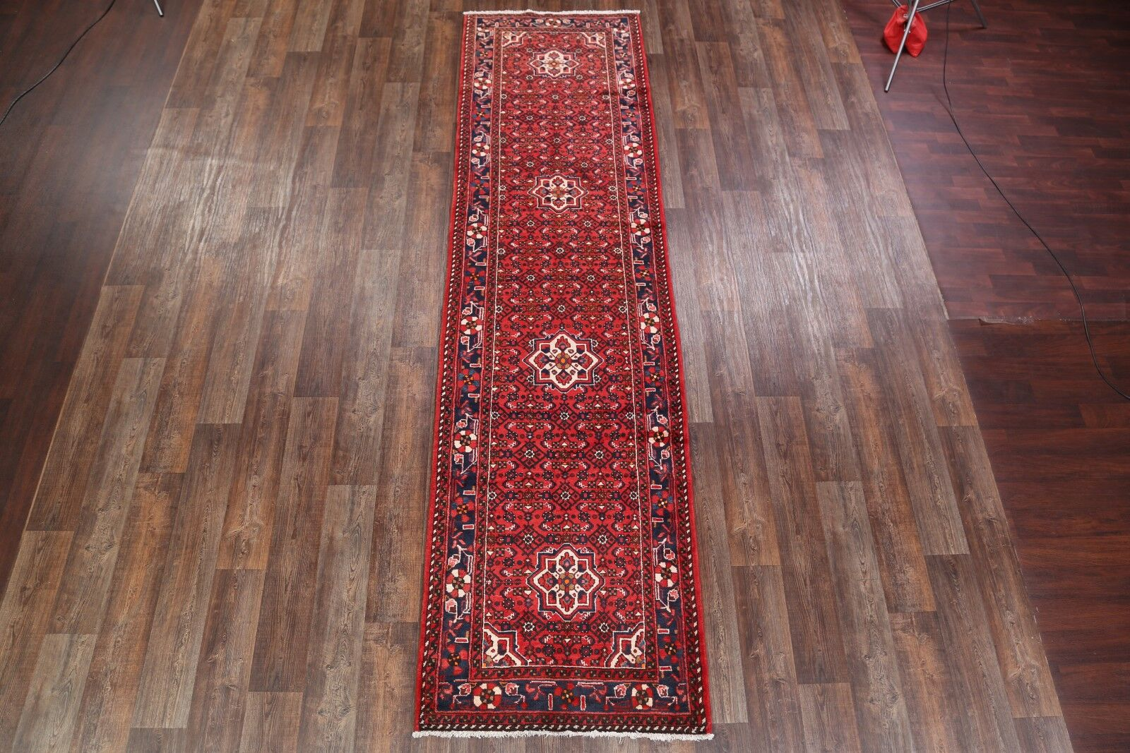 One-of-a-Kind Hamedan Persian Traditional Classical Hand-Knotted 3'6