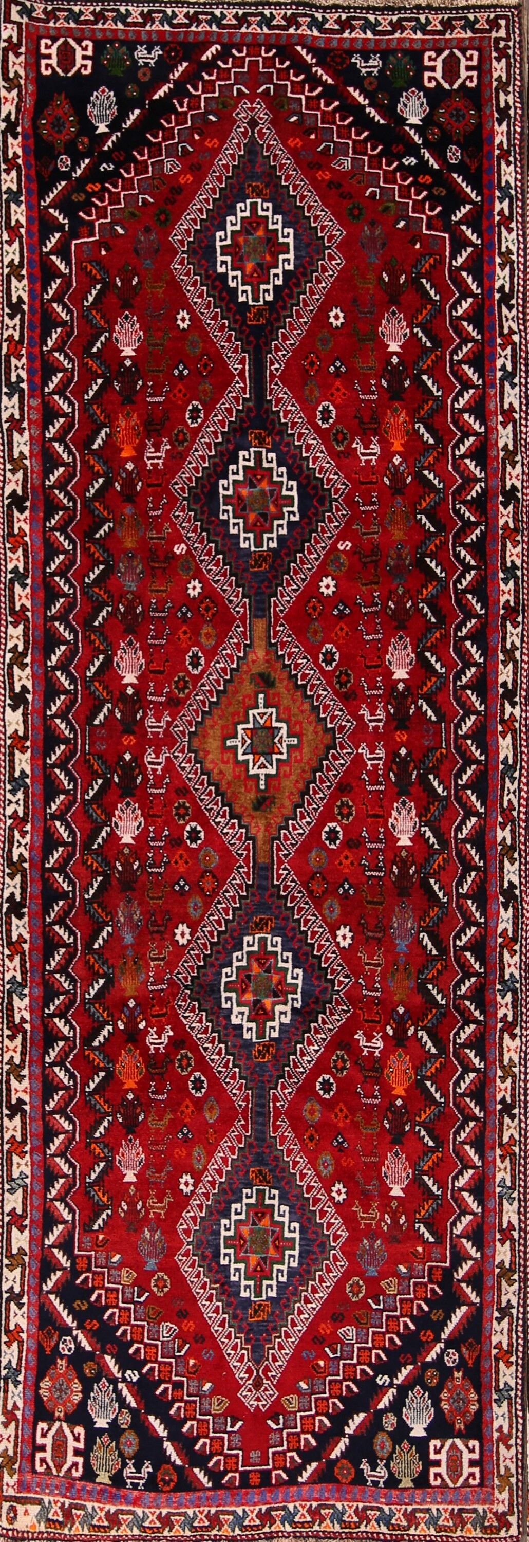 One-of-a-Kind Classical Abadeh Traditional Nafar Persian Hand-Knotted 3'4