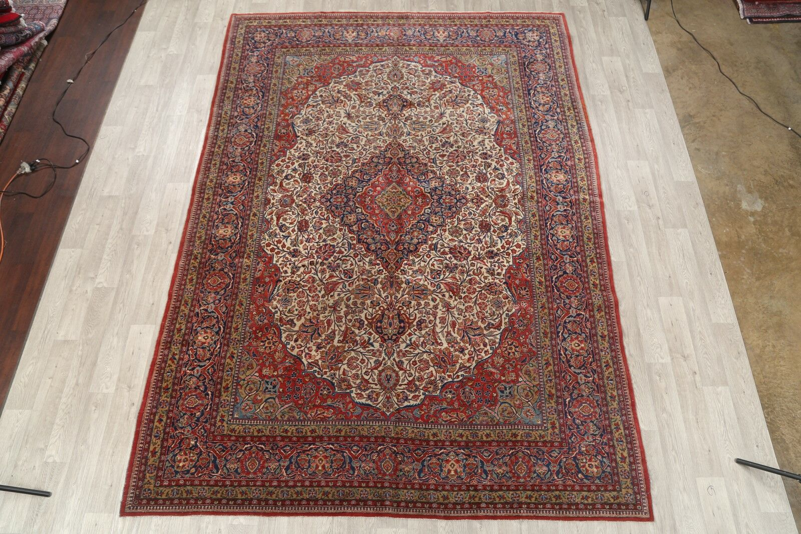 One-of-a-Kind Fraley Kashan Persian Hand-Knotted 8'7