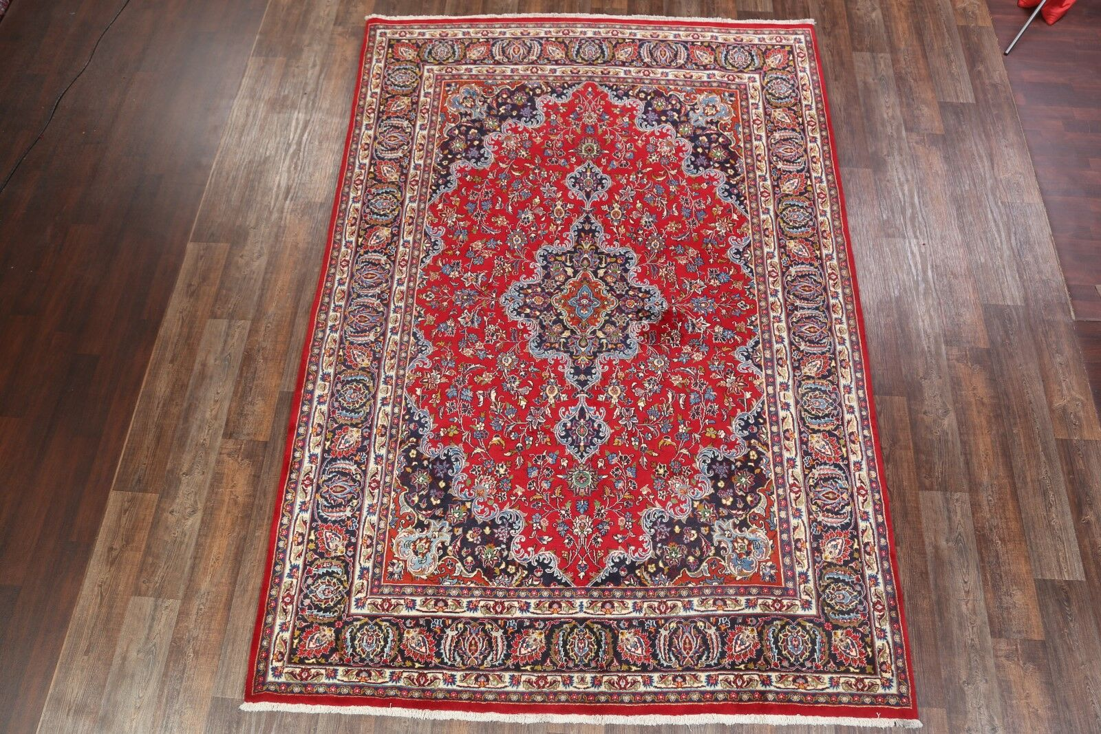 One-of-a-Kind Mashad Genuine Persian Hand-Knotted 7'10