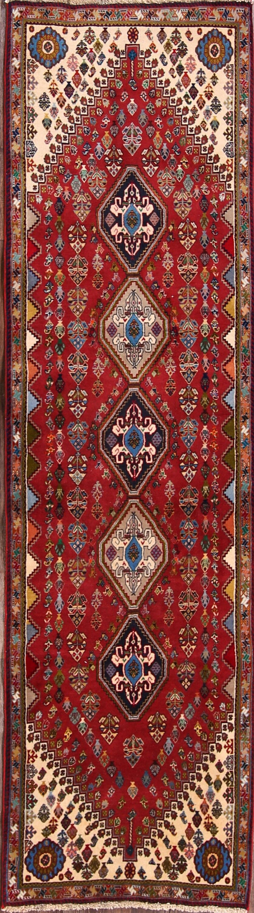 One-of-a-Kind Orosco Abadeh Shiraz Persian Hand-Knotted 2'4