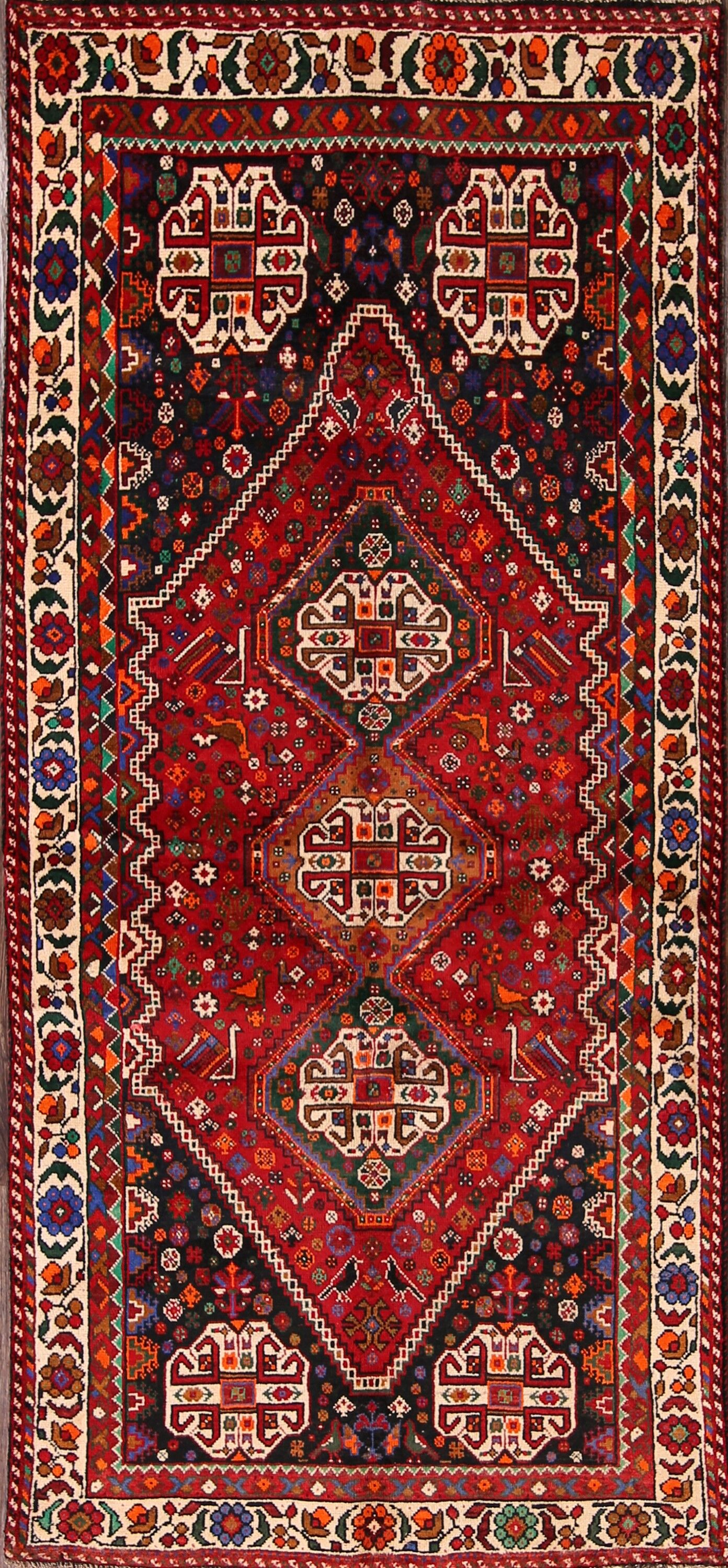 One-of-a-Kind Goldenberg Abadeh Persian Vintage Hand-Knotted 3'8
