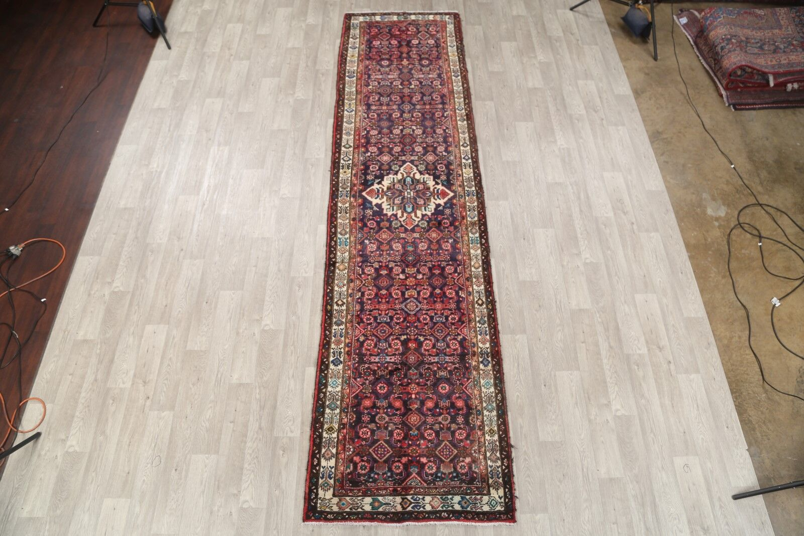 One-of-a-Kind Ormond Hamadan Persian Traditional Hand-Knotted 3'6