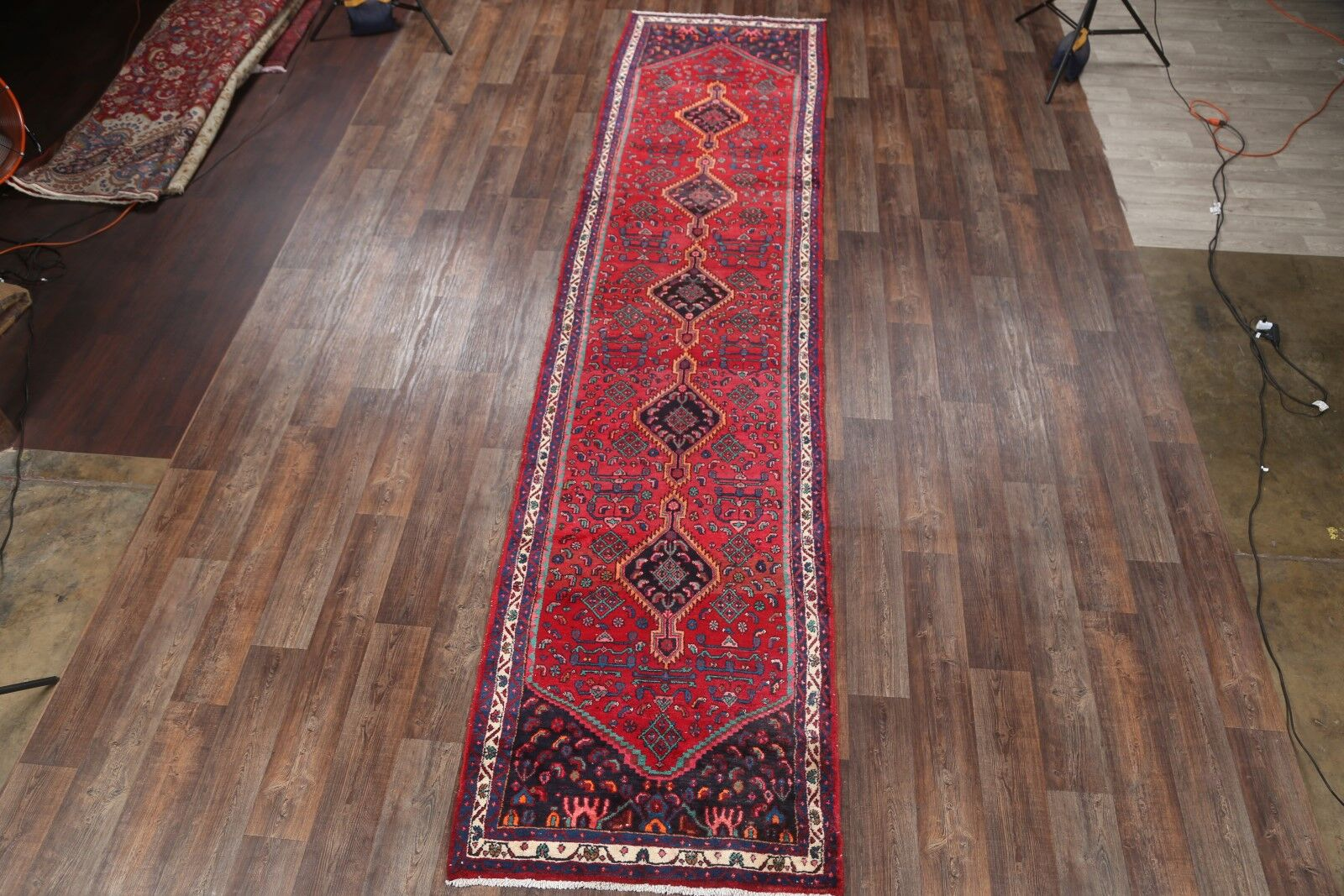 One-of-a-Kind Hamadan Persian Hand-Knotted 3'10