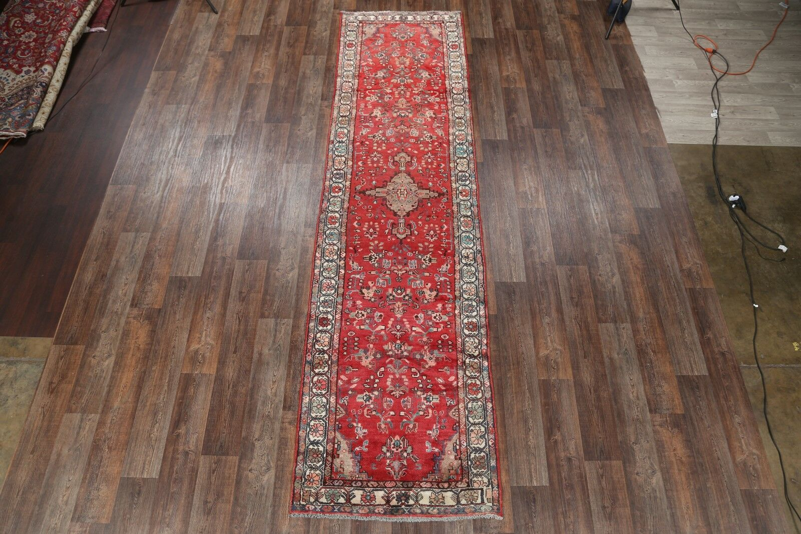 One-of-a-Kind Hamadan Persian Hand-Knotted 3'5