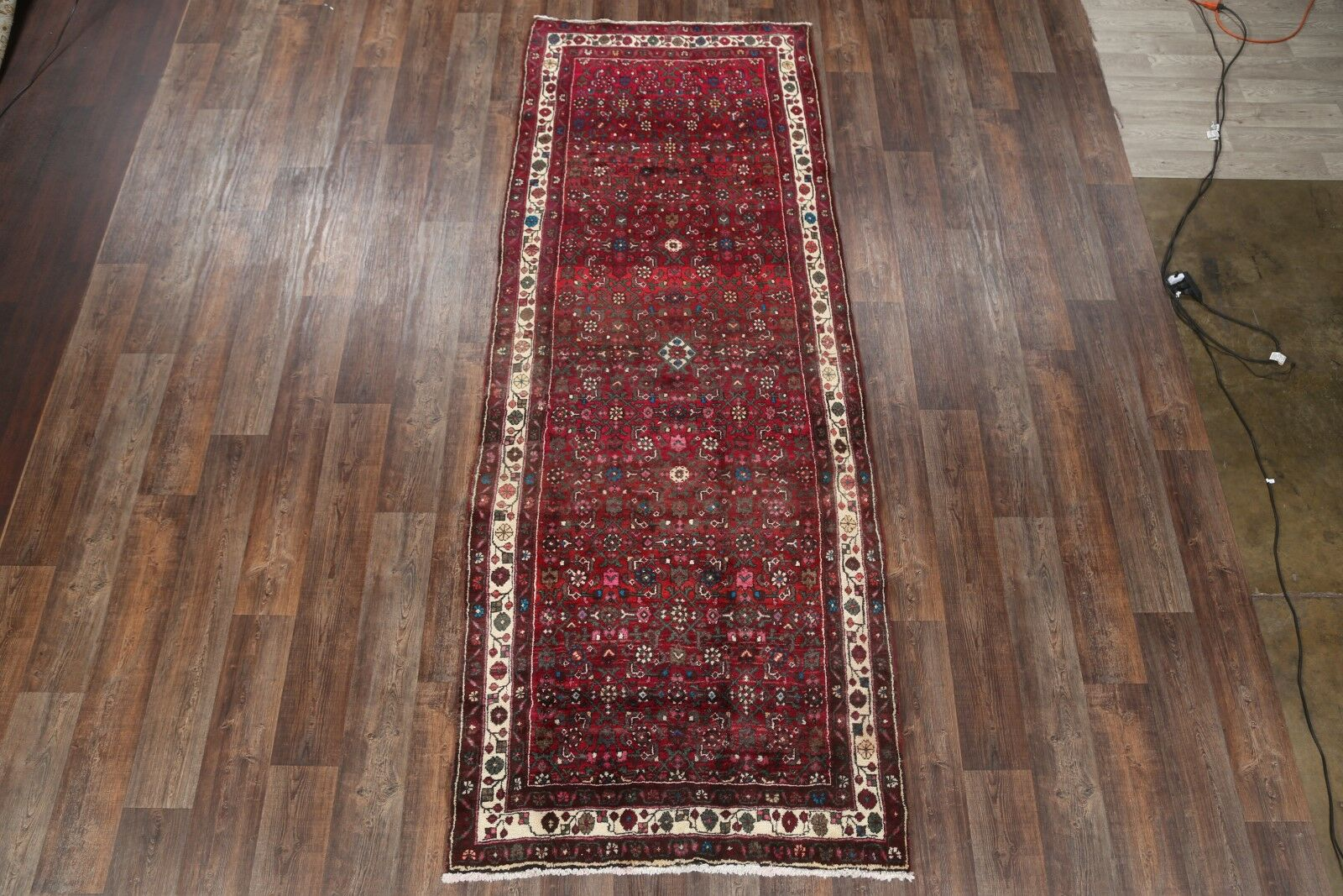 One-of-a-Kind Traditional Zanjan Persian Hand-Knotted 4'2