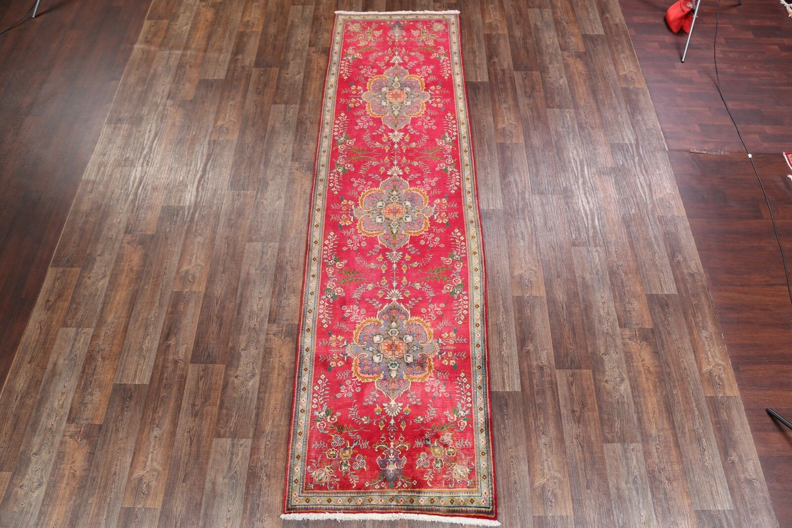 One-of-a-Kind Fedor Tabriz Persian Geometric Traditional Hand-Knotted 3'7