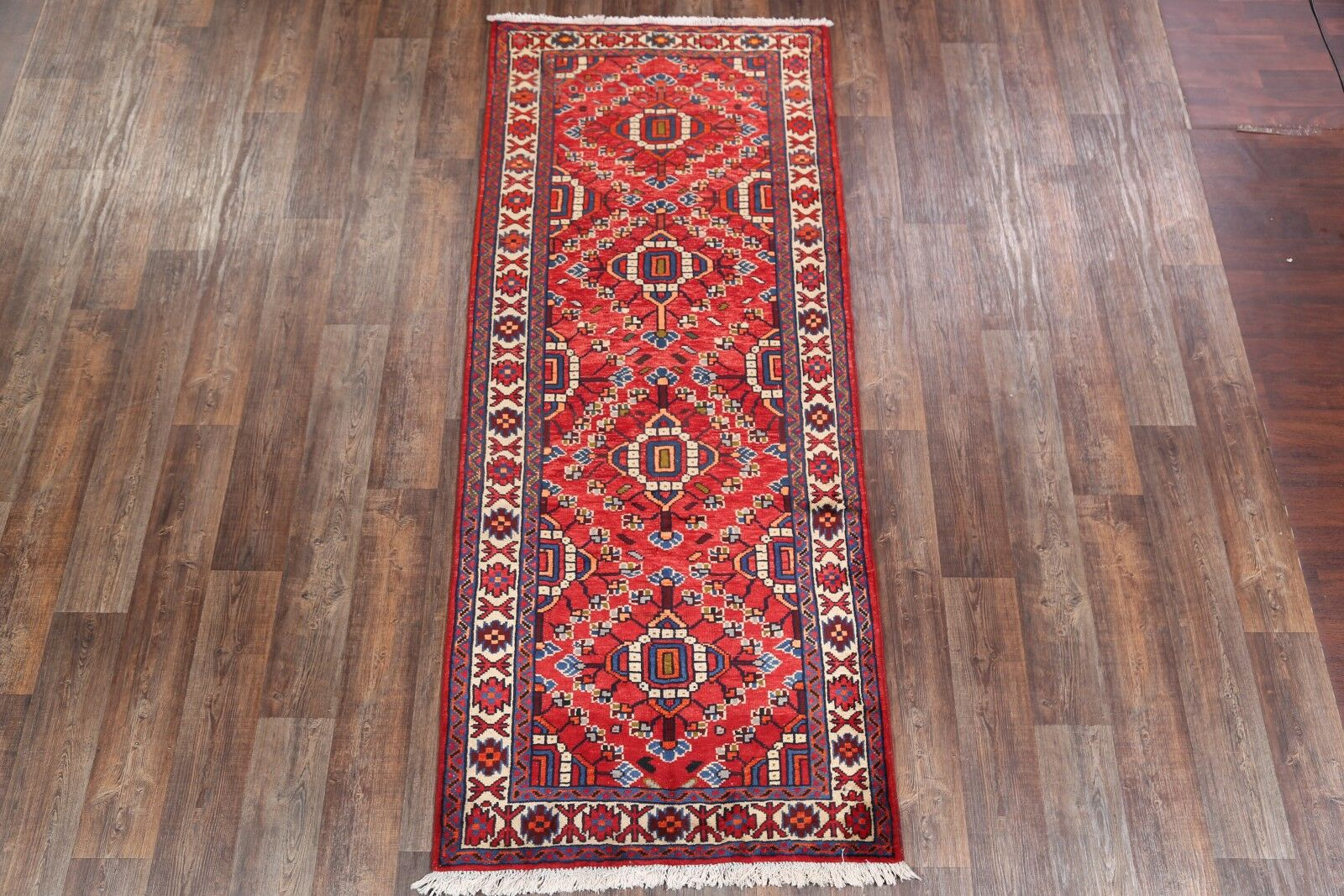 One-of-a-Kind Meader Traditional Khoy Tabriz Persian Hand-Knotted 3'10