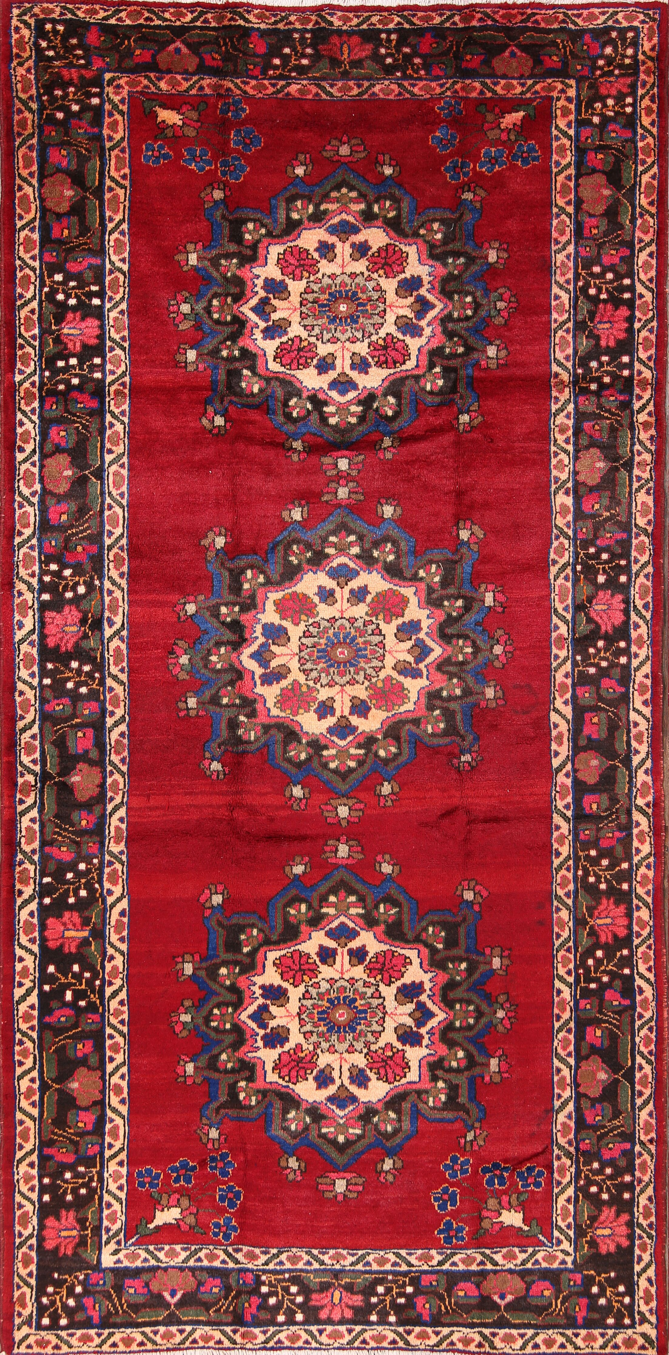 One-of-a-Kind Pelaez Malayer Floral Hamedan Persian Hand-Knotted 5'3