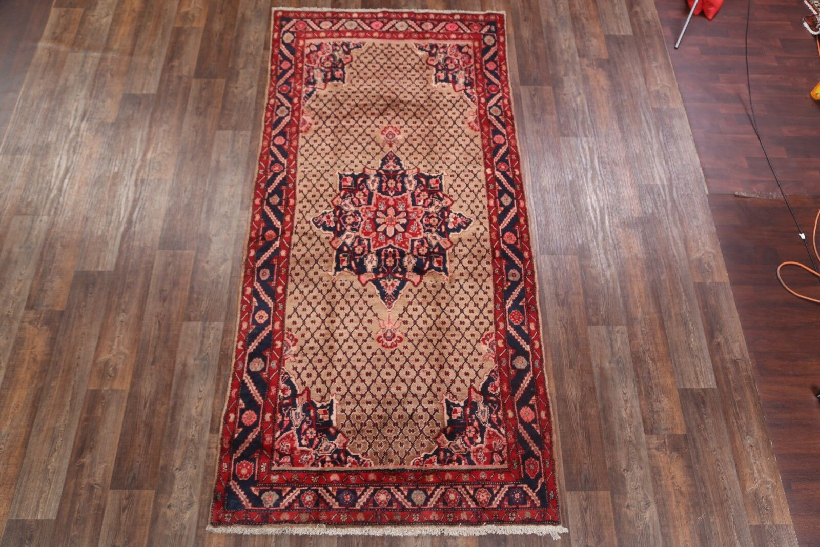 One-of-a-Kind Mcquade Traditional Koliaei Hamedan Persian Hand-Knotted 5' x 10'5