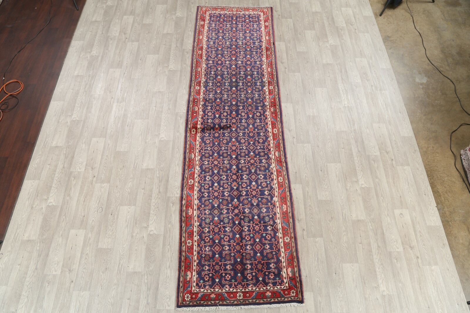 One-of-a-Kind Traditional Malayer Hamadan Persian Hand-Knotted 3'5