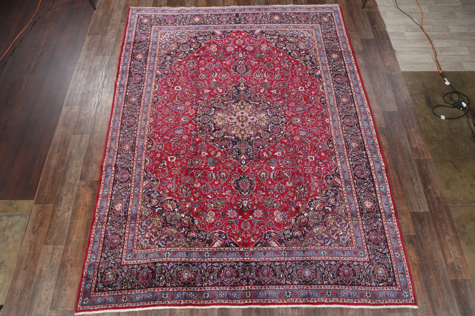 One-of-a-Kind Kashmar Persian Traditional Hand-Knotted 9'6