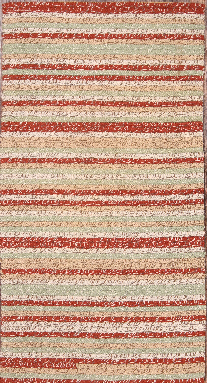 Ingrid Kilim Anatolian Oriental Hand-Woven Wool Red/Burgundy Area Rug
