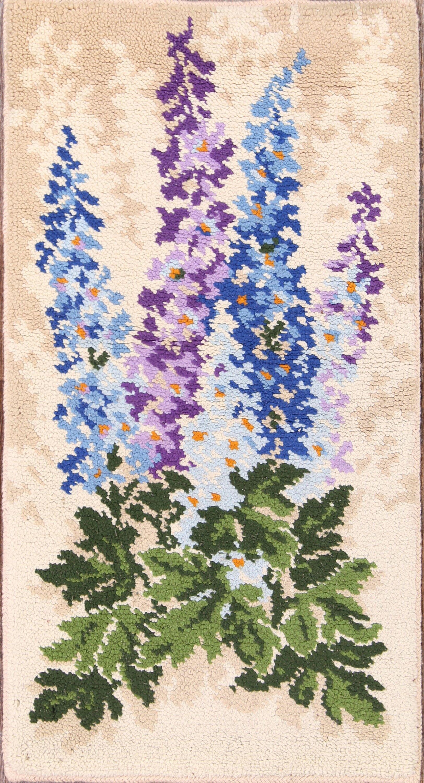 Ashlynn Rya Oriental Hand-Knotted Wool Beige/Green/Blue Area Rug