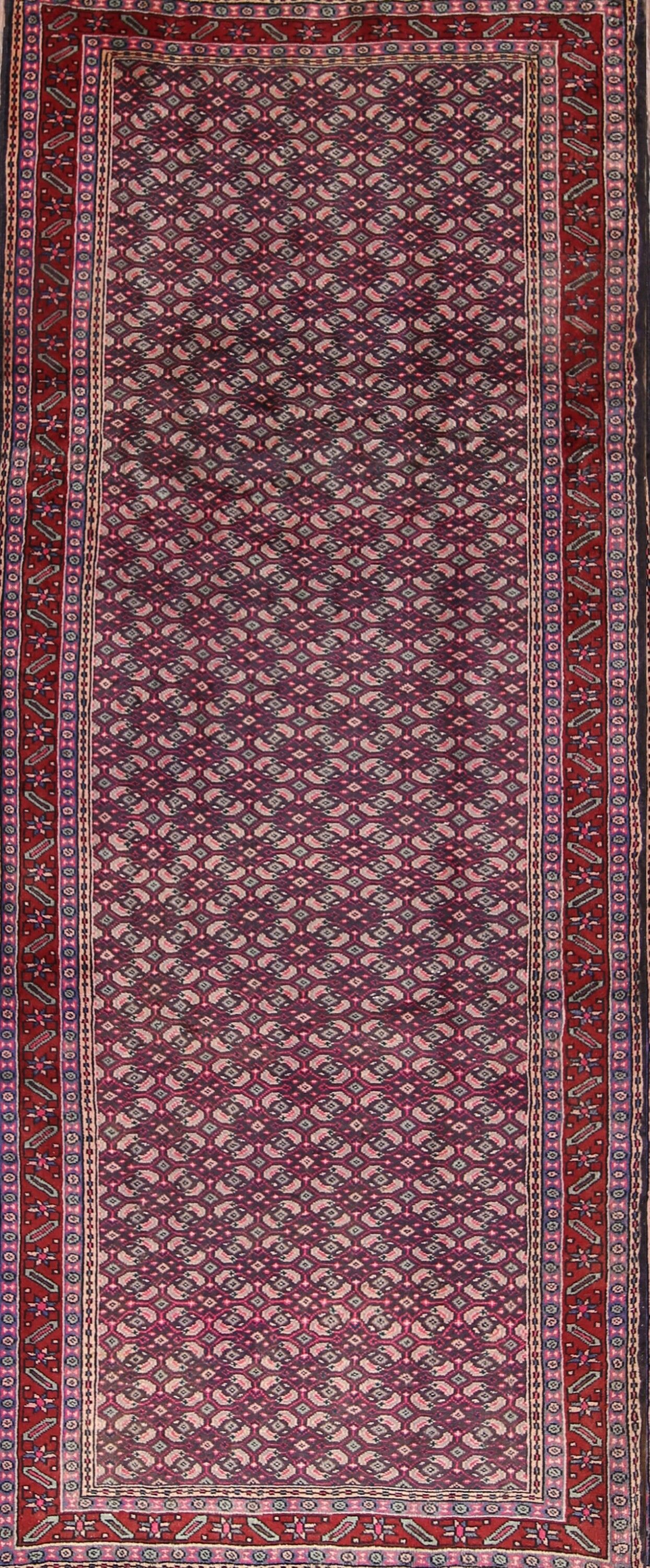 One-of-a-Kind Dryer Ardebil Persian Hand-Knotted 4'1