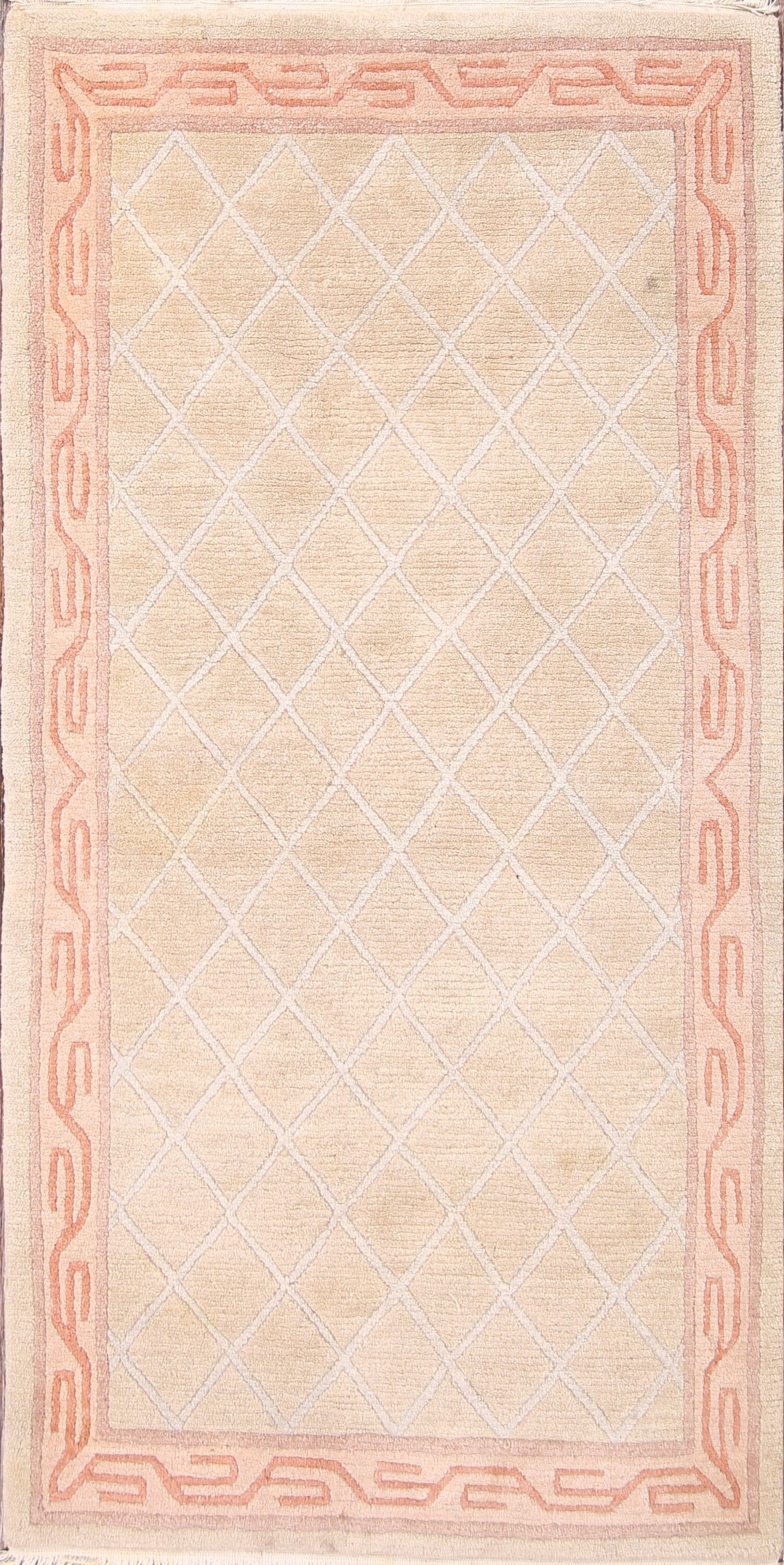 One-of-a-Kind Cantin Tibet Oriental Hand-Knotted Wool Beige/Ivory Area Rug