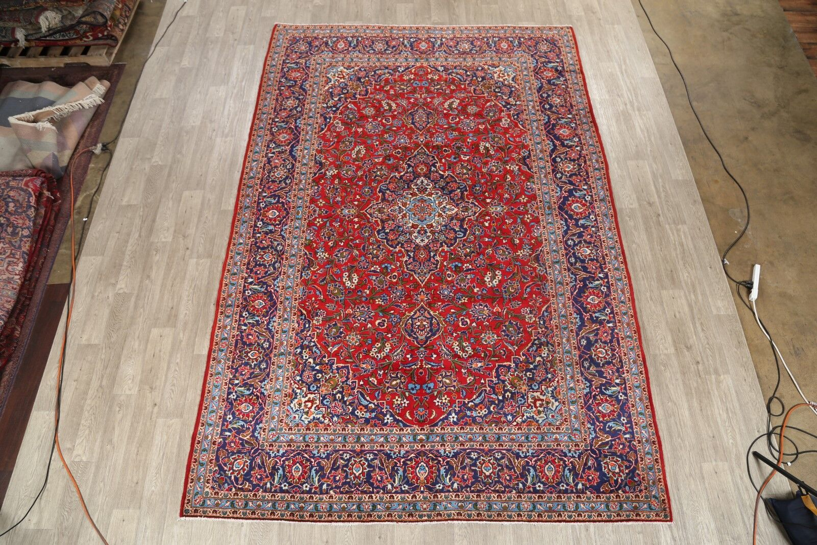 One-of-a-Kind Vintage Kashan Traditional Persian Hand-Knotted 8'1