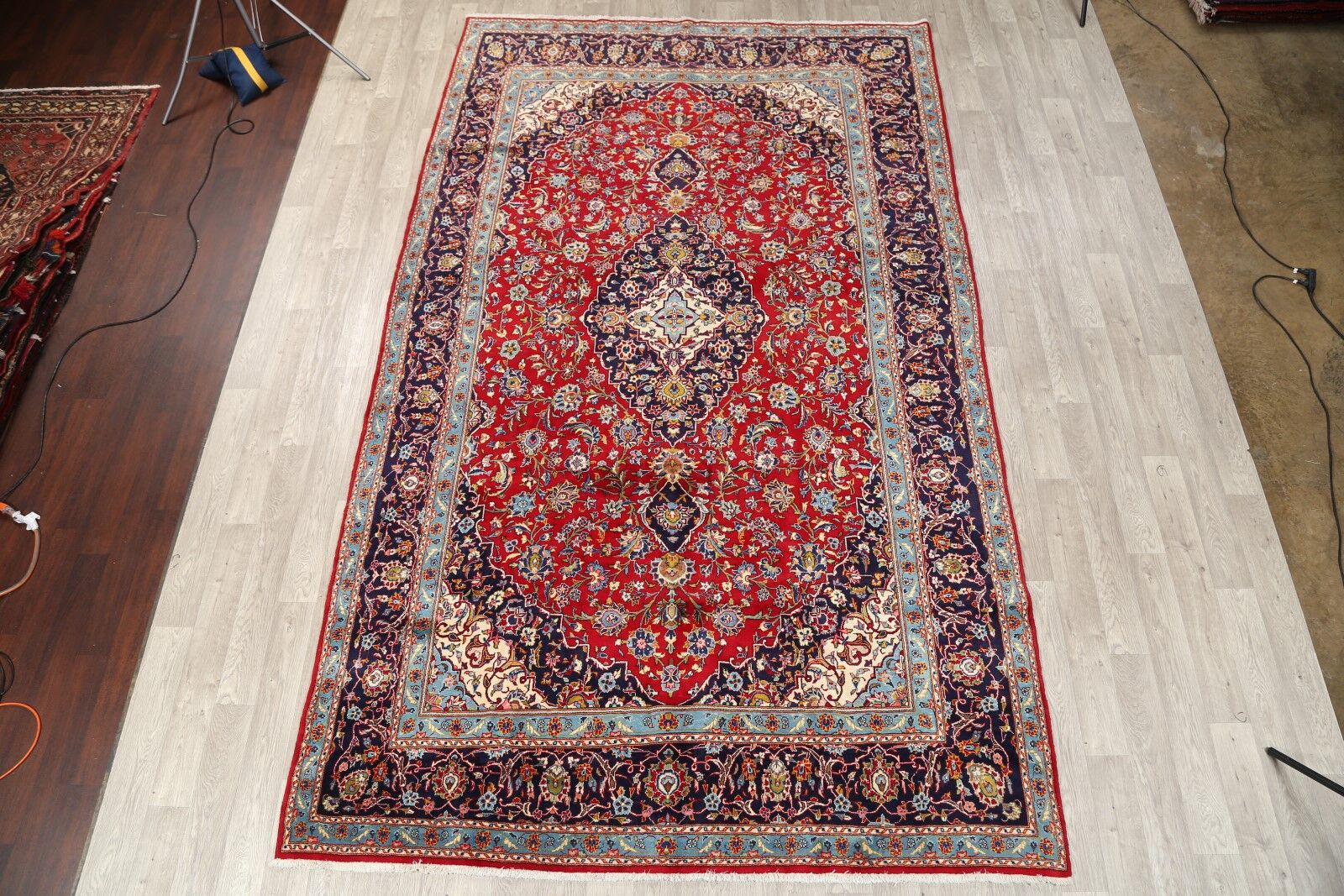 One-of-a-Kind Kashan Persian Classical Vintage Hand-Knotted 7'11